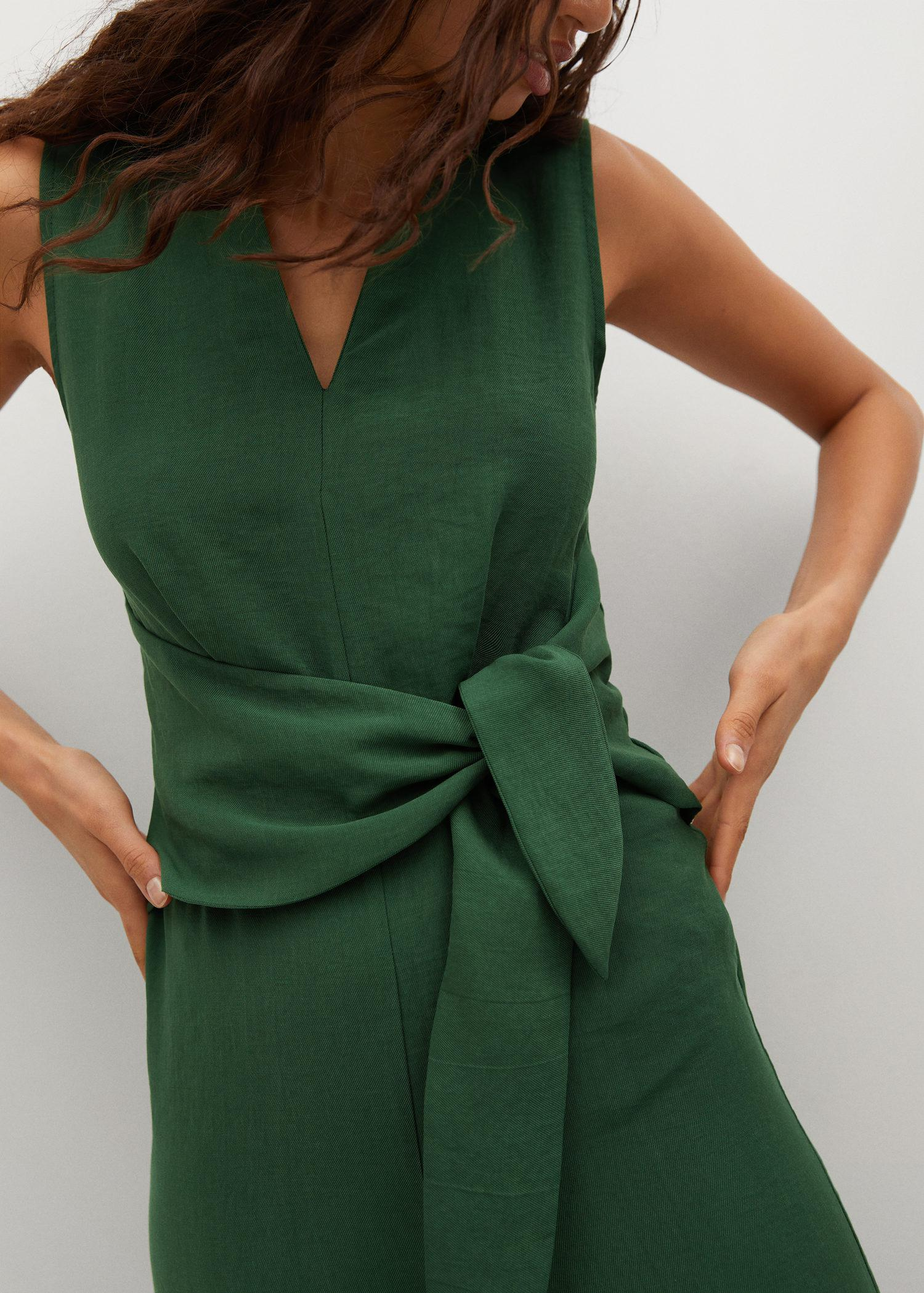 Lyocell jumpsuit with belt 5