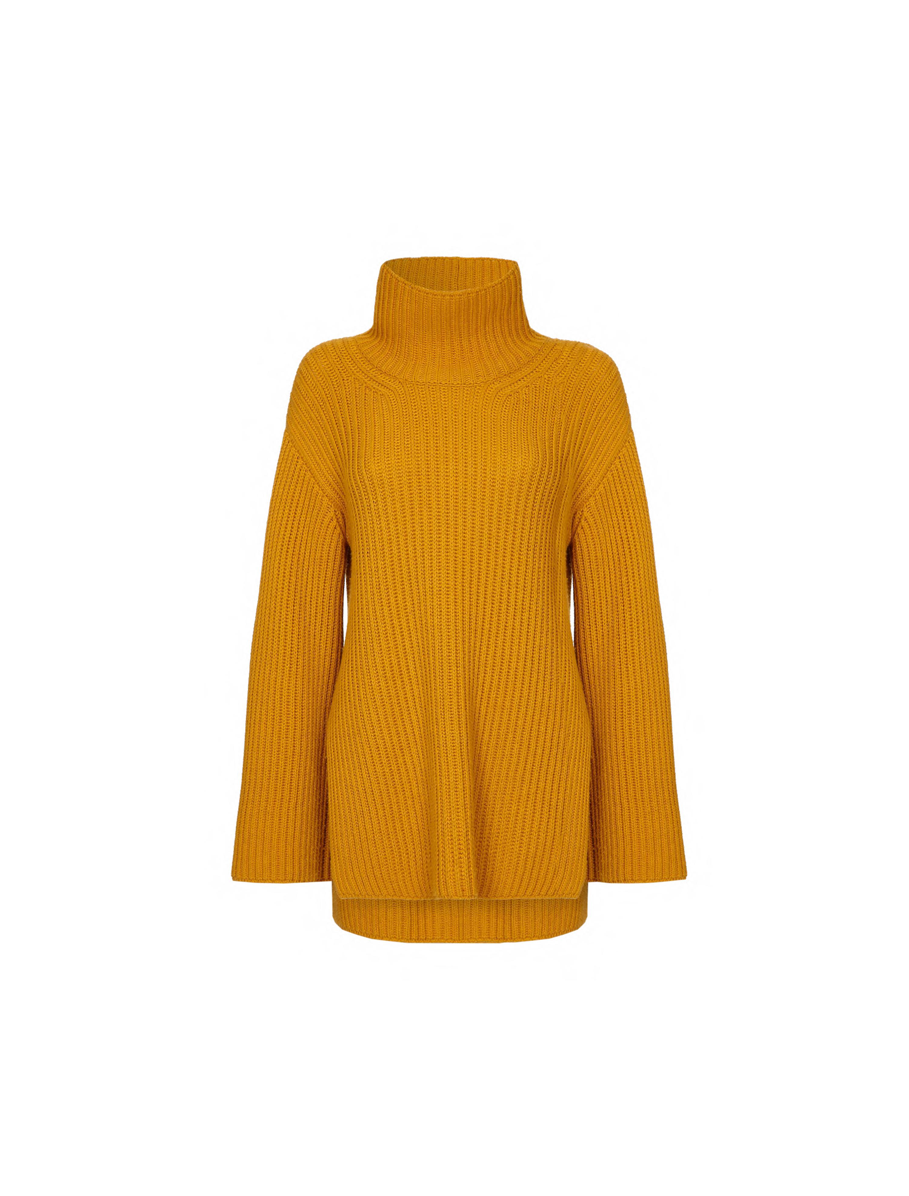 THE MAYKA CASHMERE BLEND HIGH NECK SWEATER 0