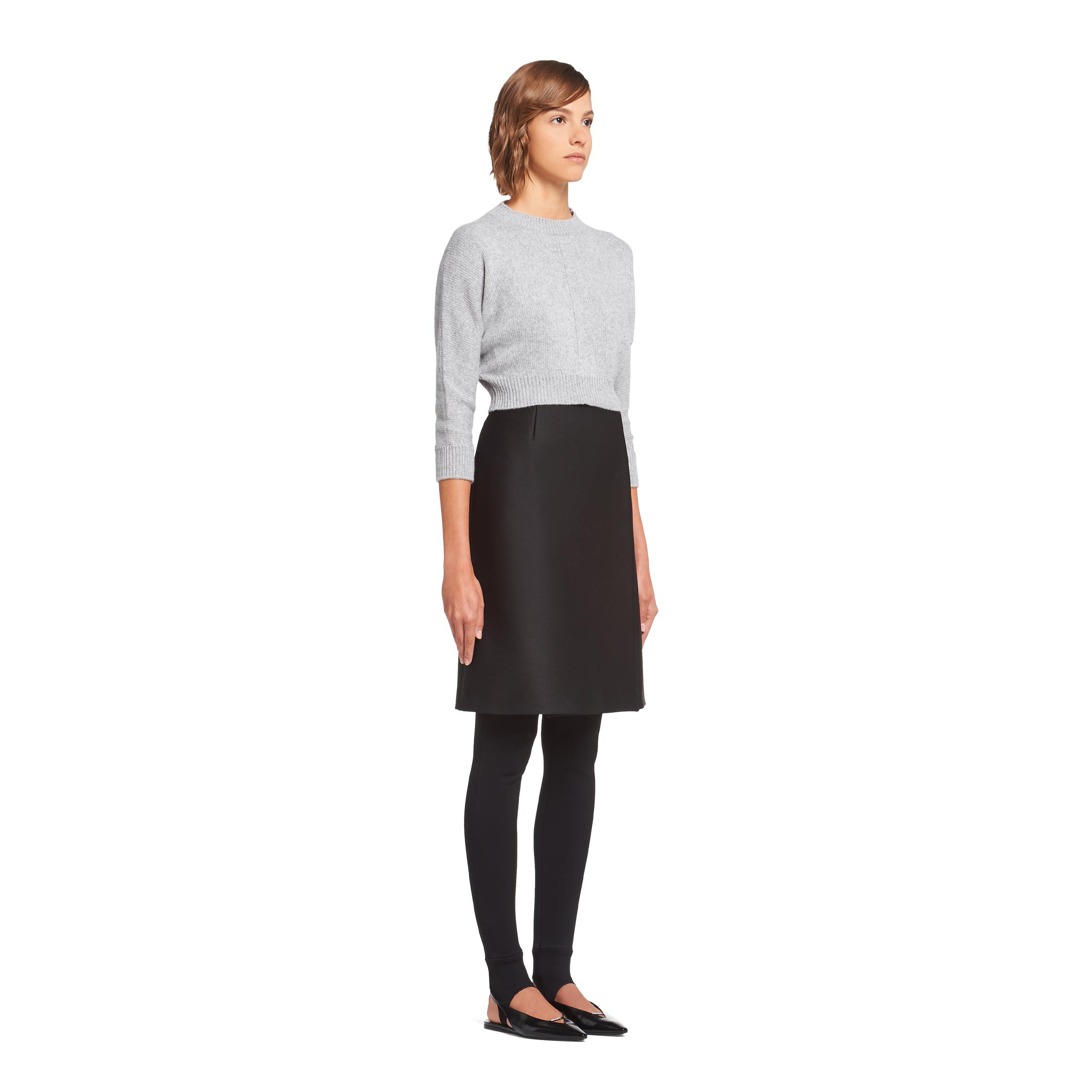 Cashmere Wool Crew-neck Sweater Women Marble Gray 2