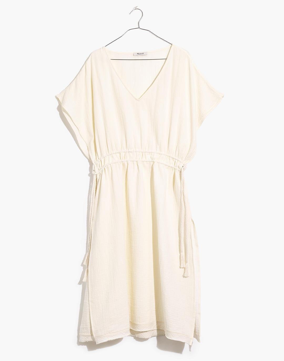 Double Gauze Side-Tie Cover-Up Dress 3