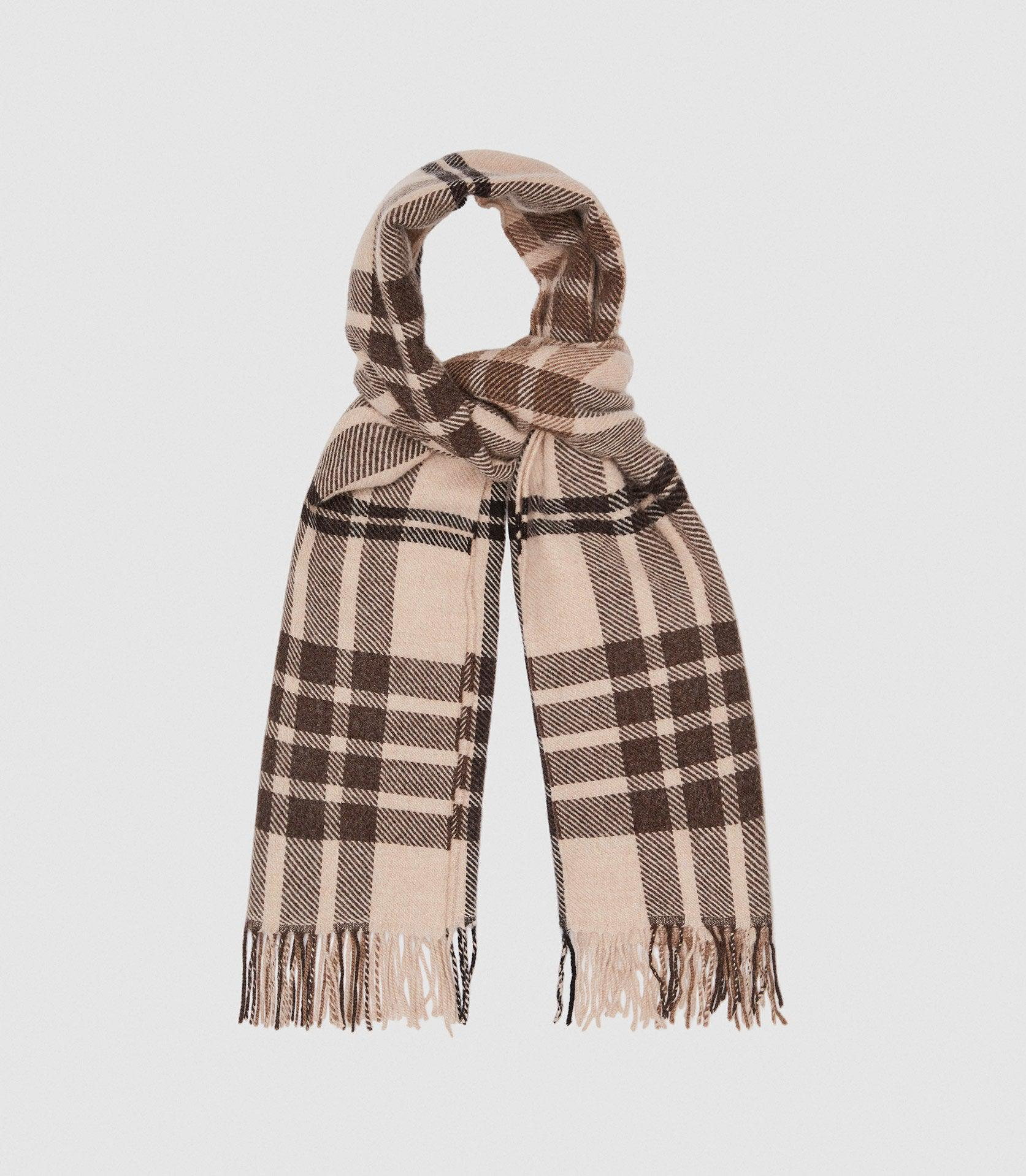 STEPH - WOOL CHECKED SCARF