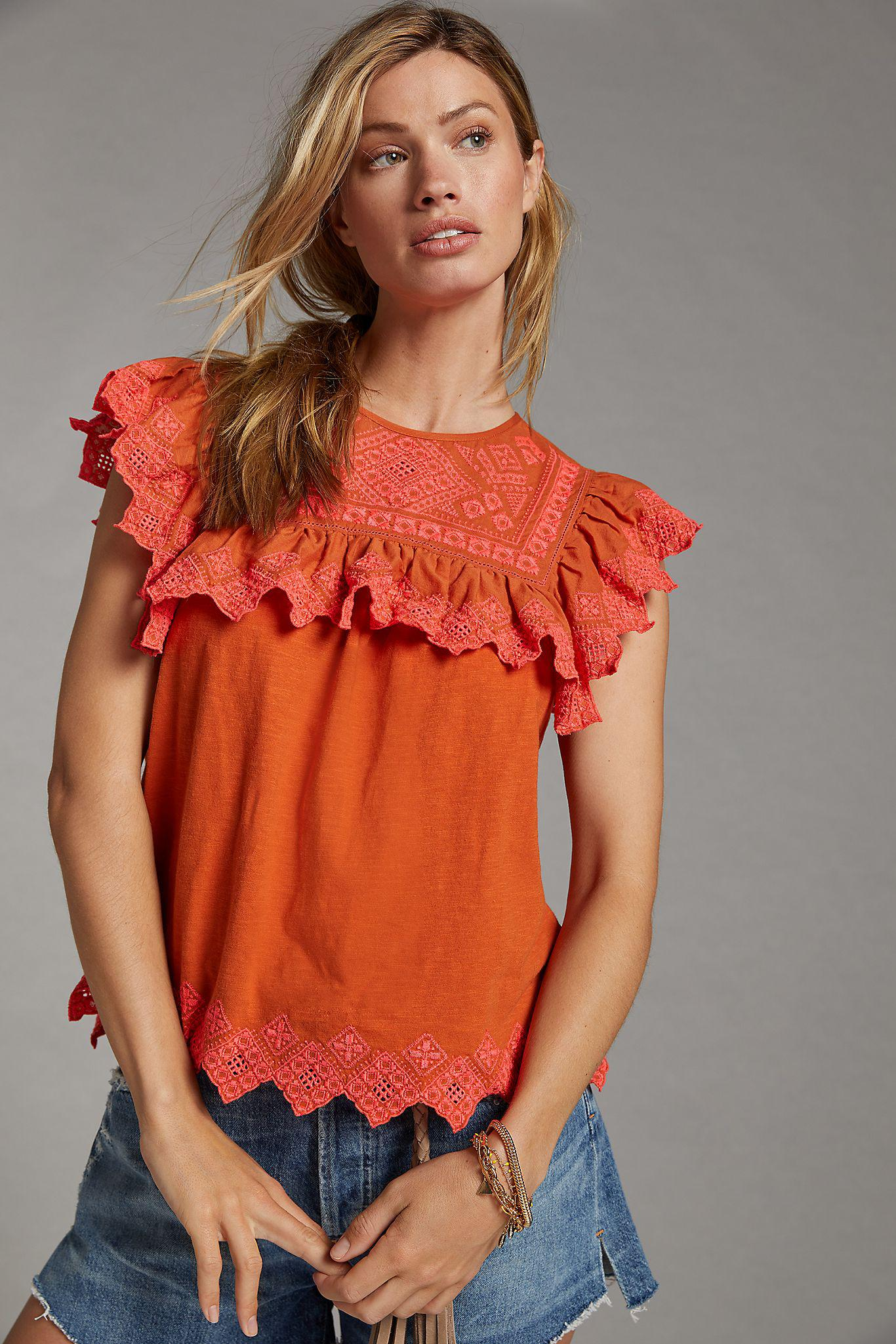 Rica Embroidered Top