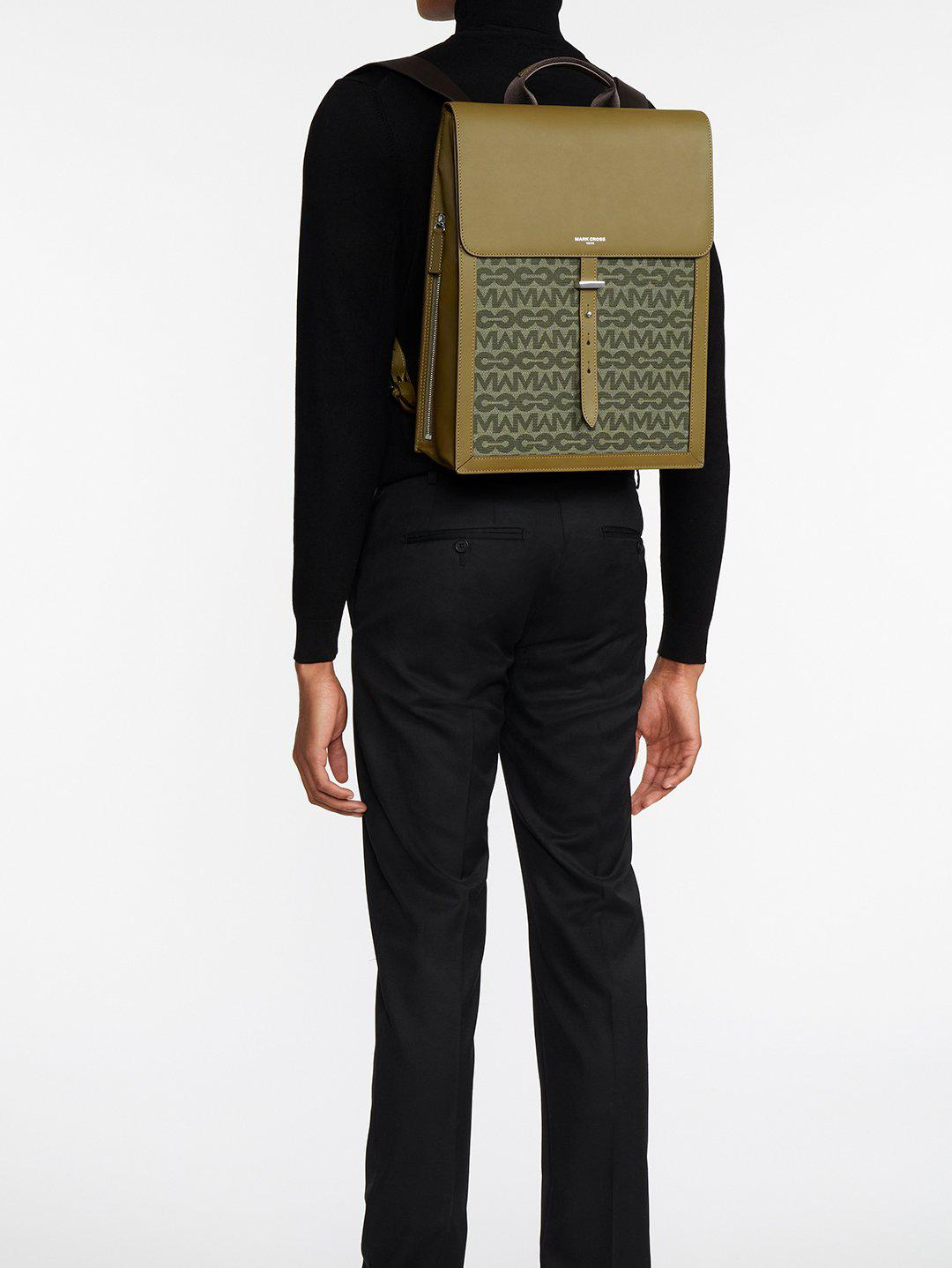 Andy MC Jacquard & Leather Backpack 7