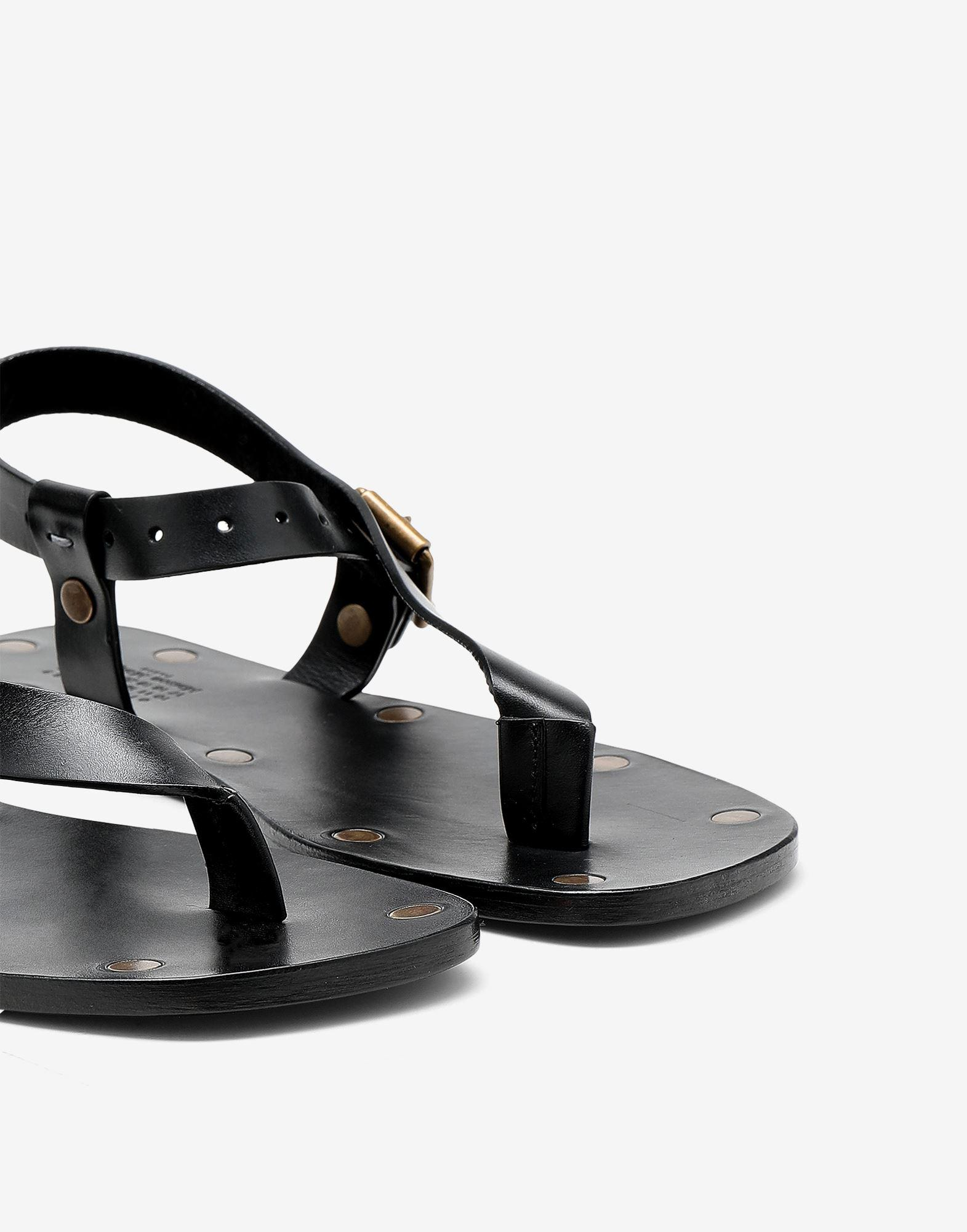 Leather T-bar sandals 4
