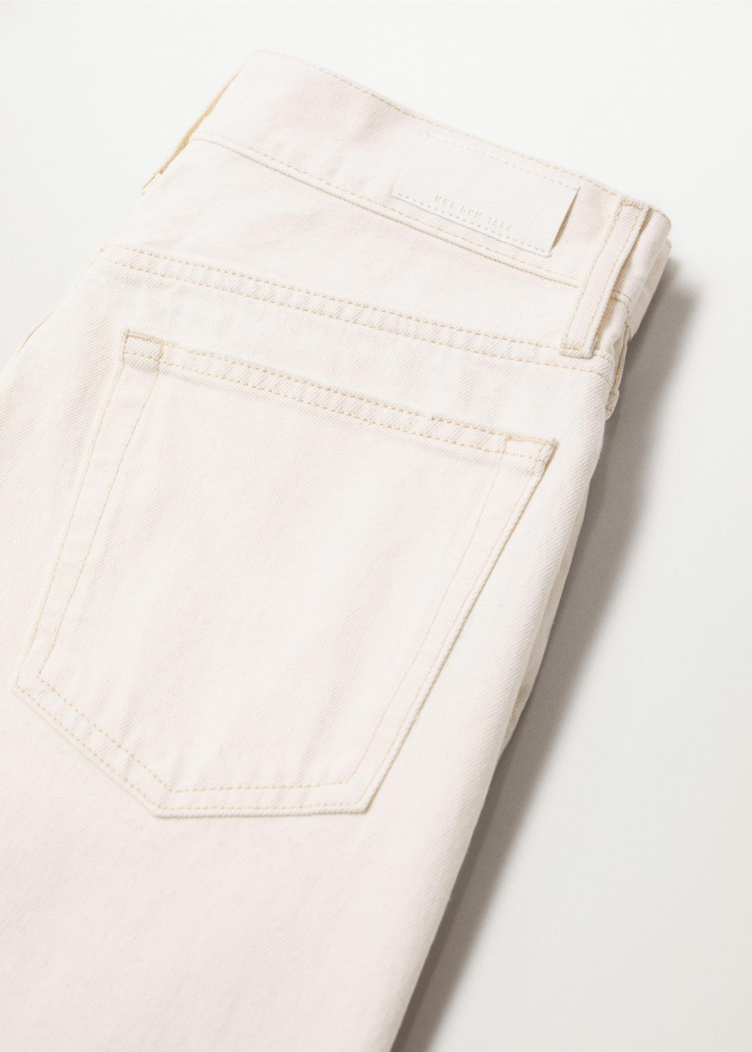 Decorative rips relaxed jeans 8