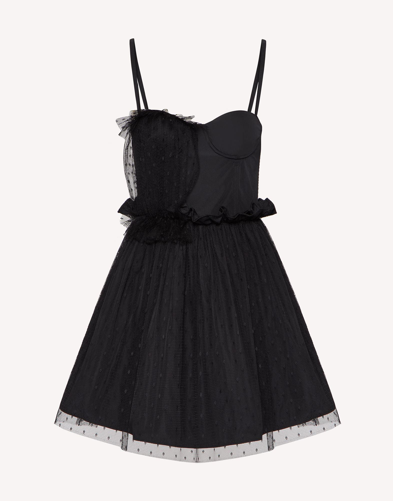"""""""THE BLACK TAG"""". - TAFFETA AND POINT D'ESPRIT TULLE DRESS 4"""