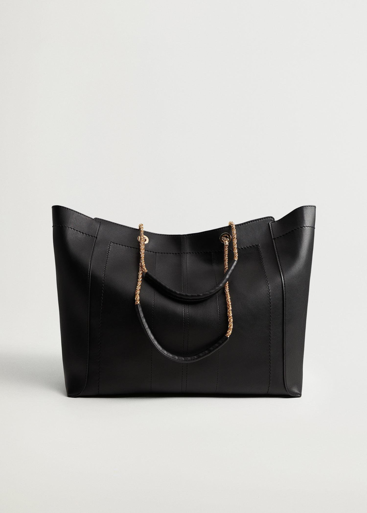 Shopper bag with chain handle