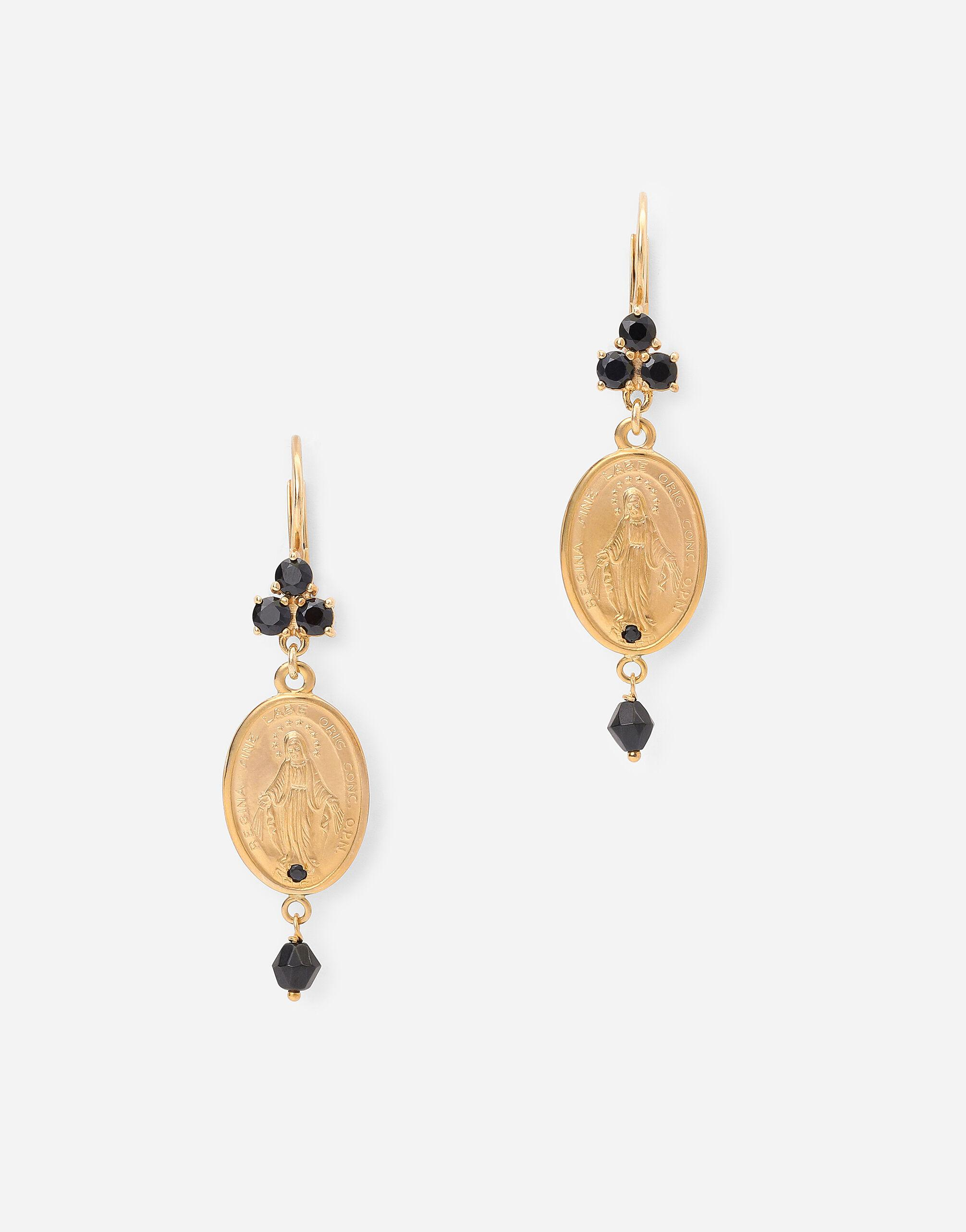 Tradition earrings in yellow 18kt gold with medals