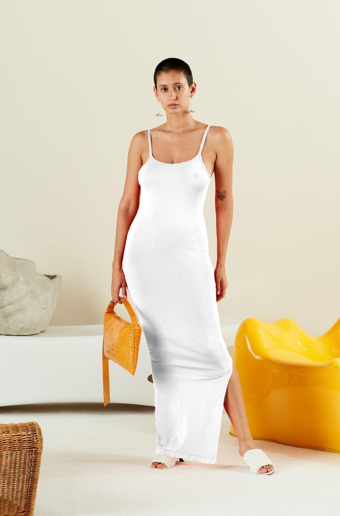 STRETCH Anders Dress White