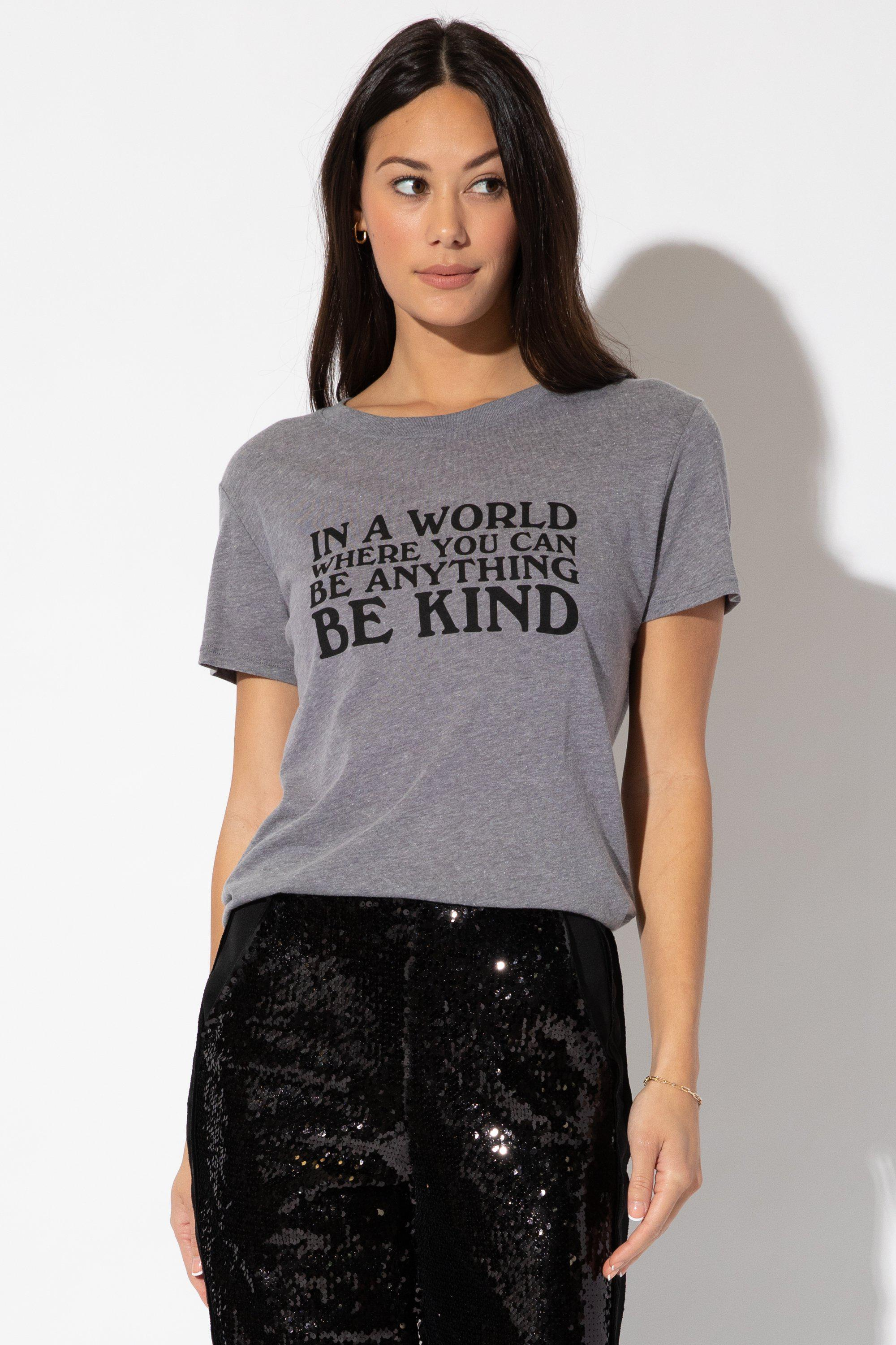 IN A WORLD LOOSE TEE - HTHR
