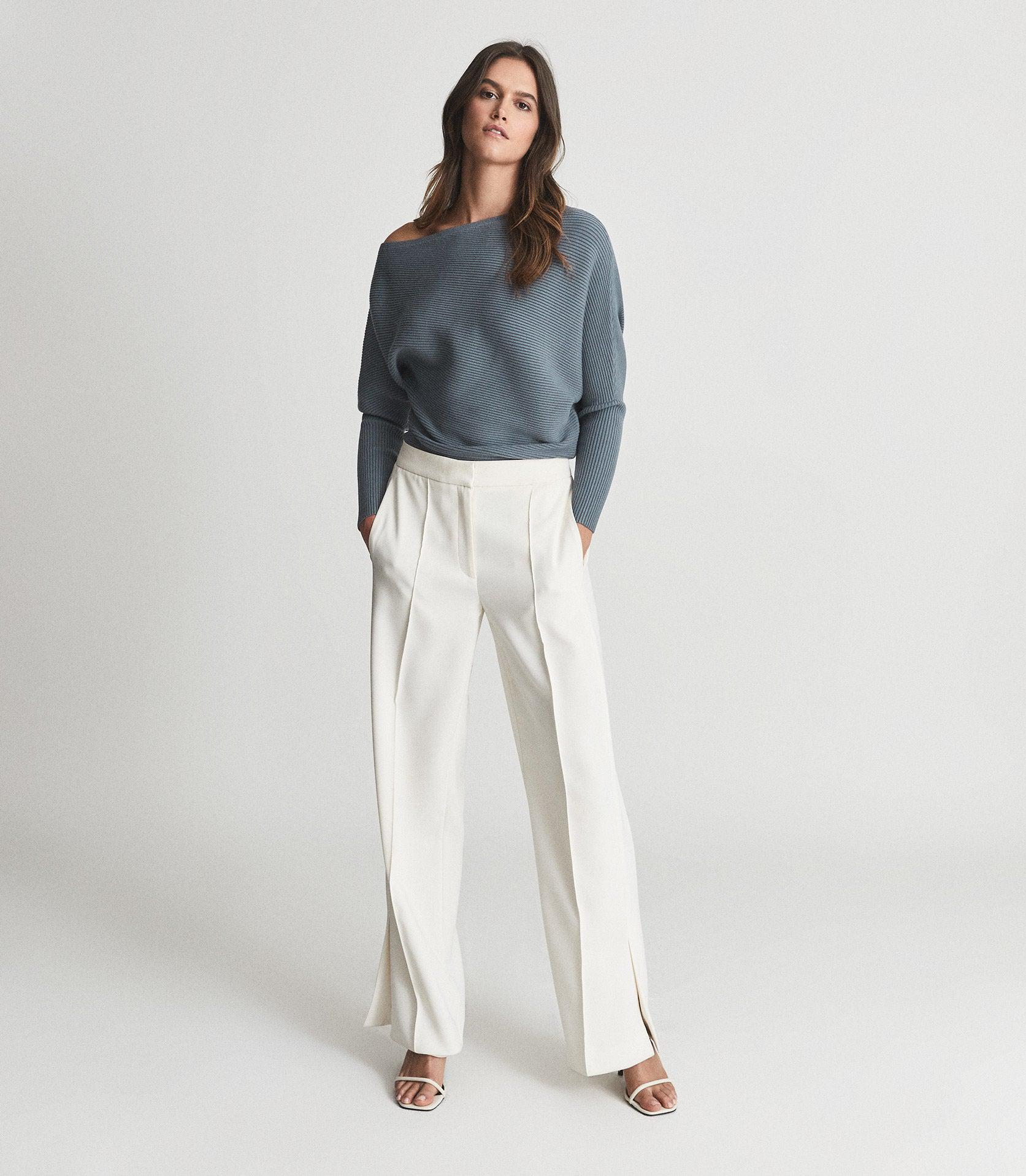 LORNA - ASYMMETRIC KNITTED TOP