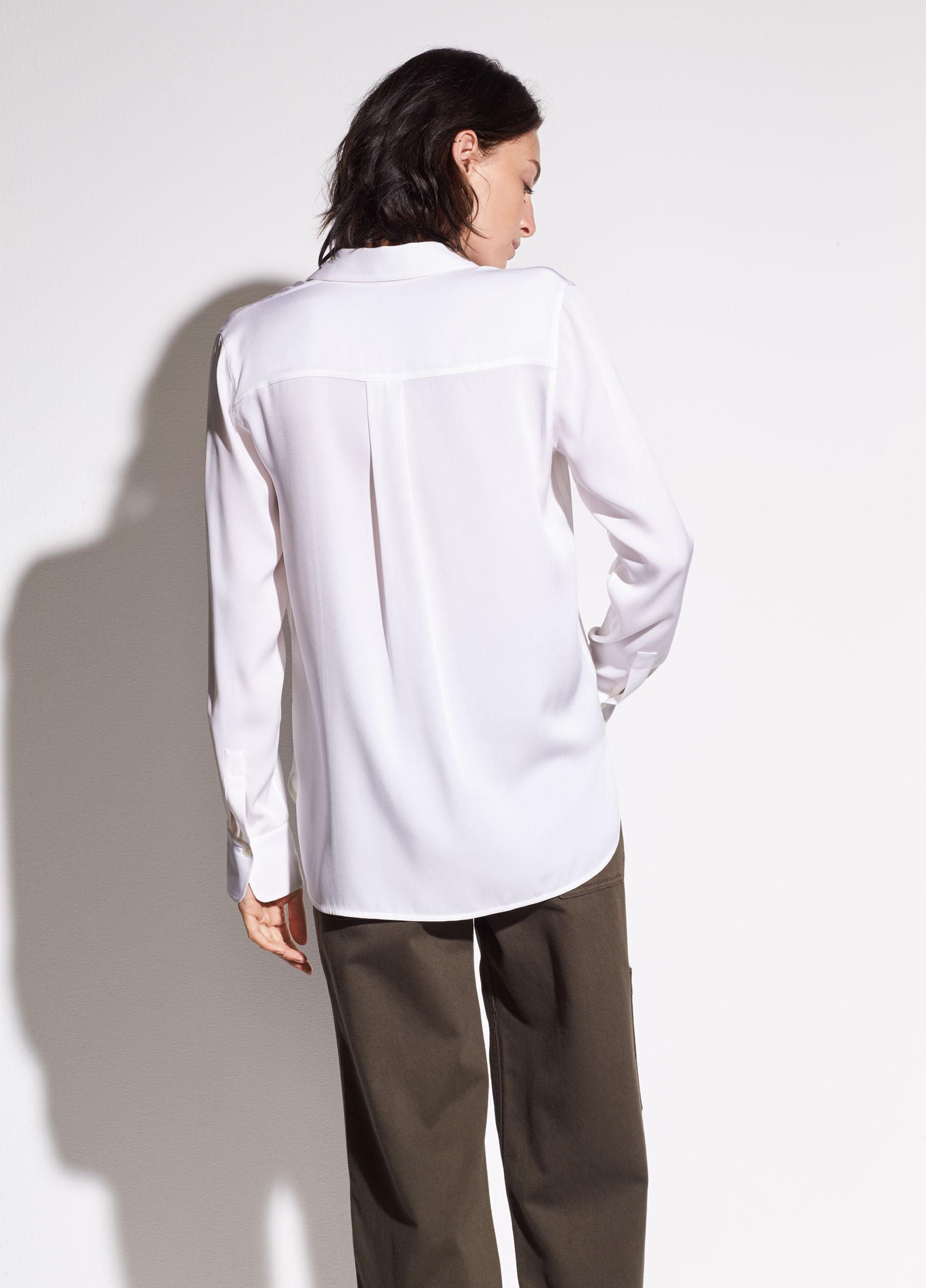 Slim Fitted Stretch-Silk Blouse 2