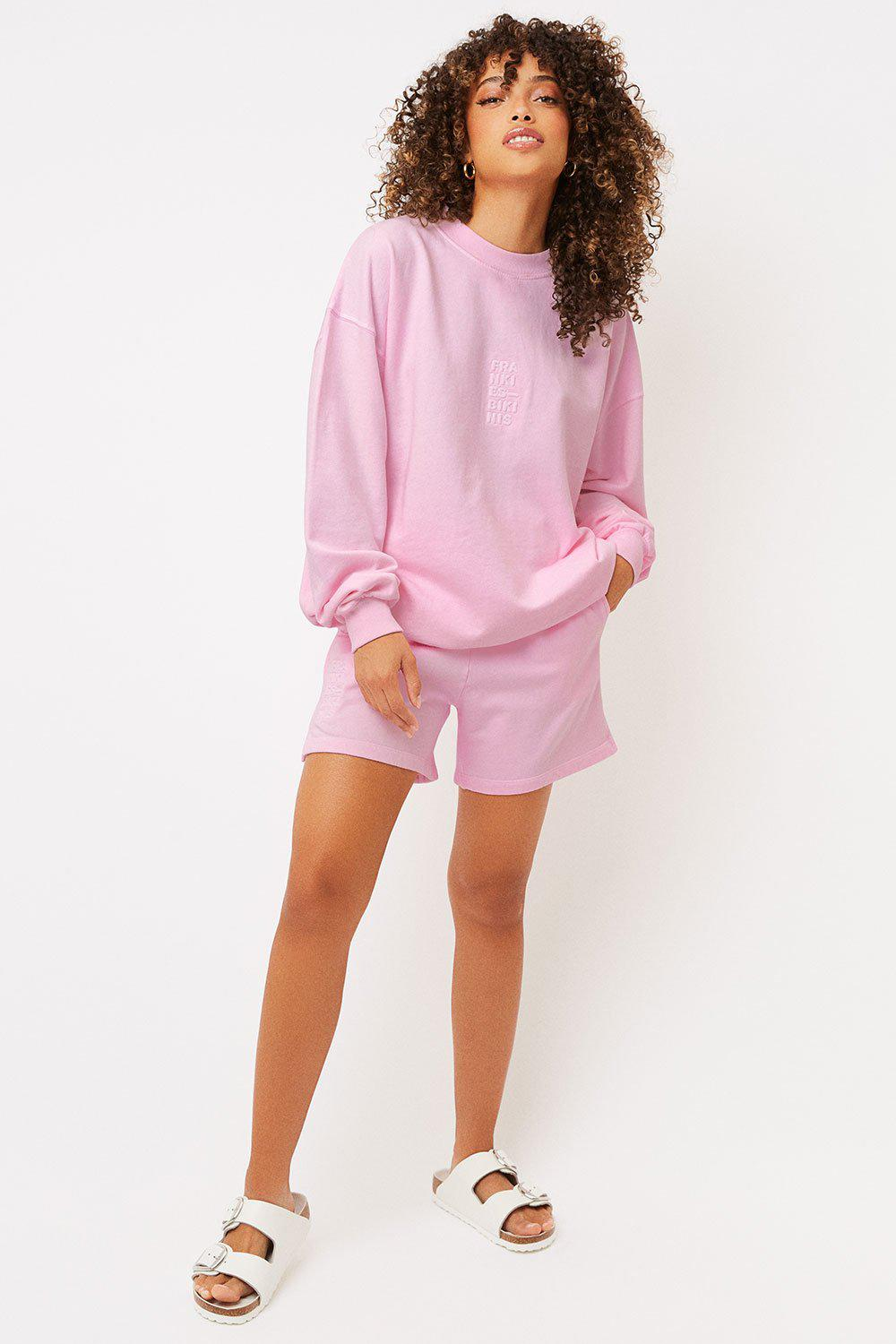 Bennie Oversized Crewneck Sweatshirt - Love Pink