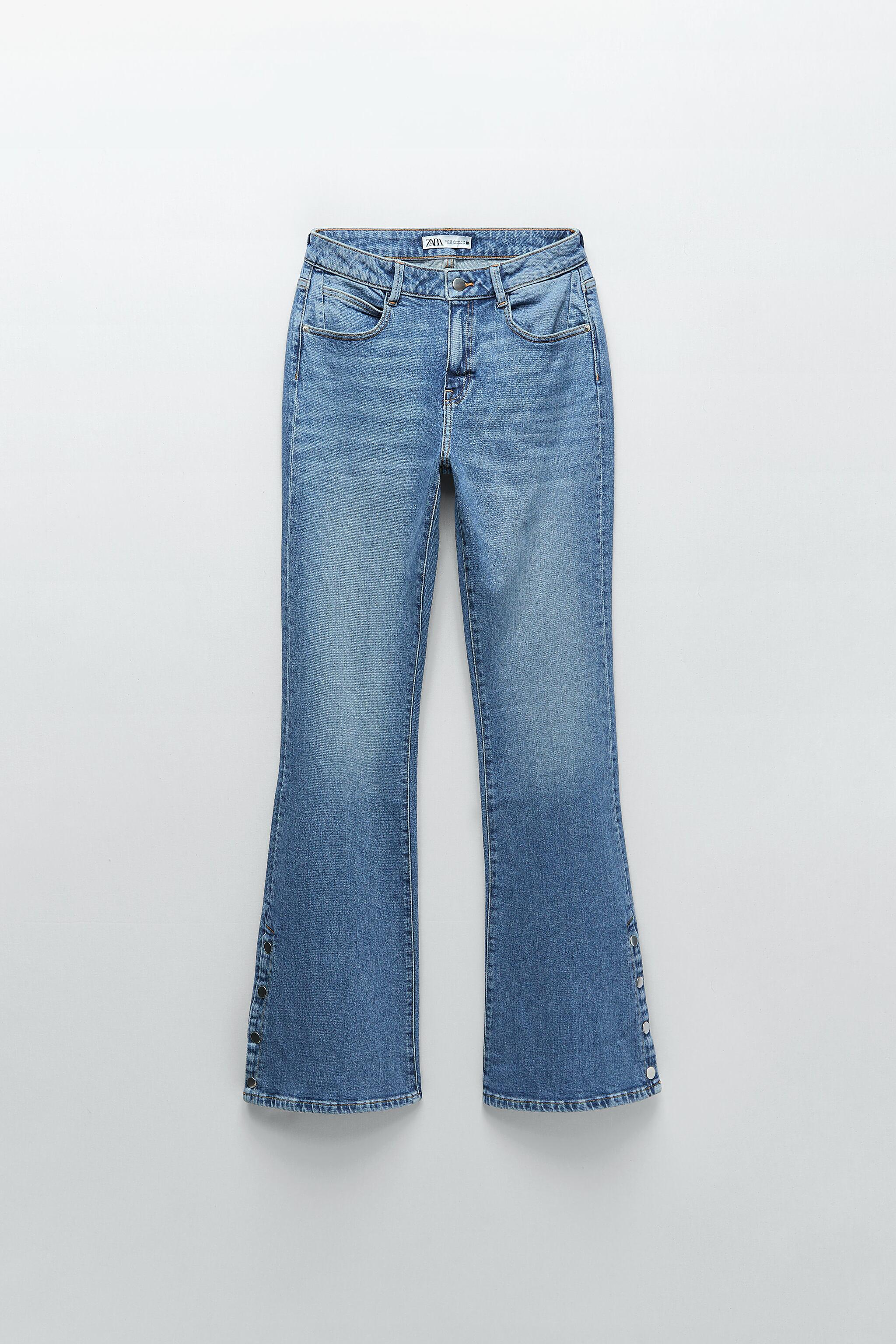 Z1975 HIGH RISE BUTTON FLY FLARED JEANS 3