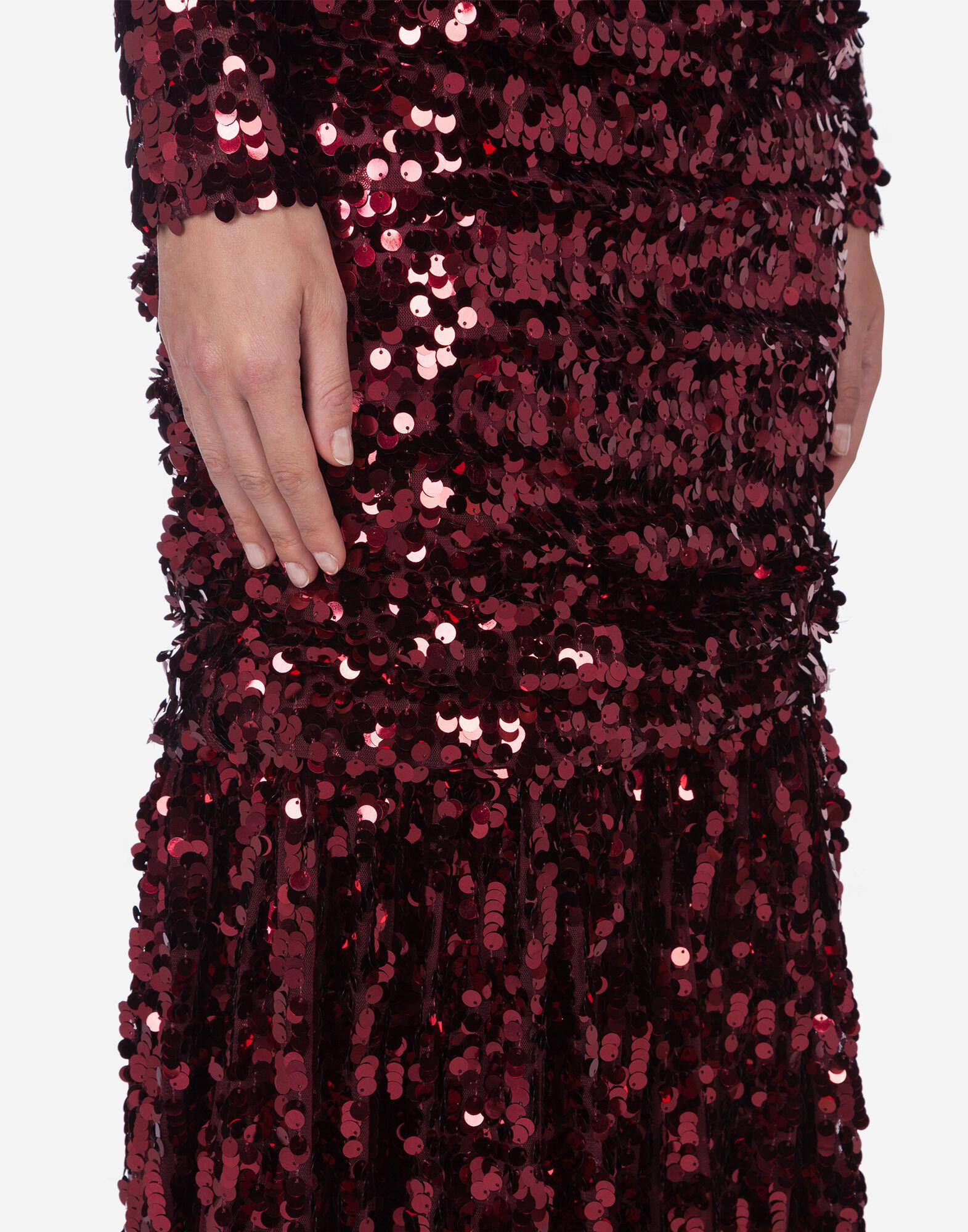 Long-sleeved dress with sequined sleeves 4