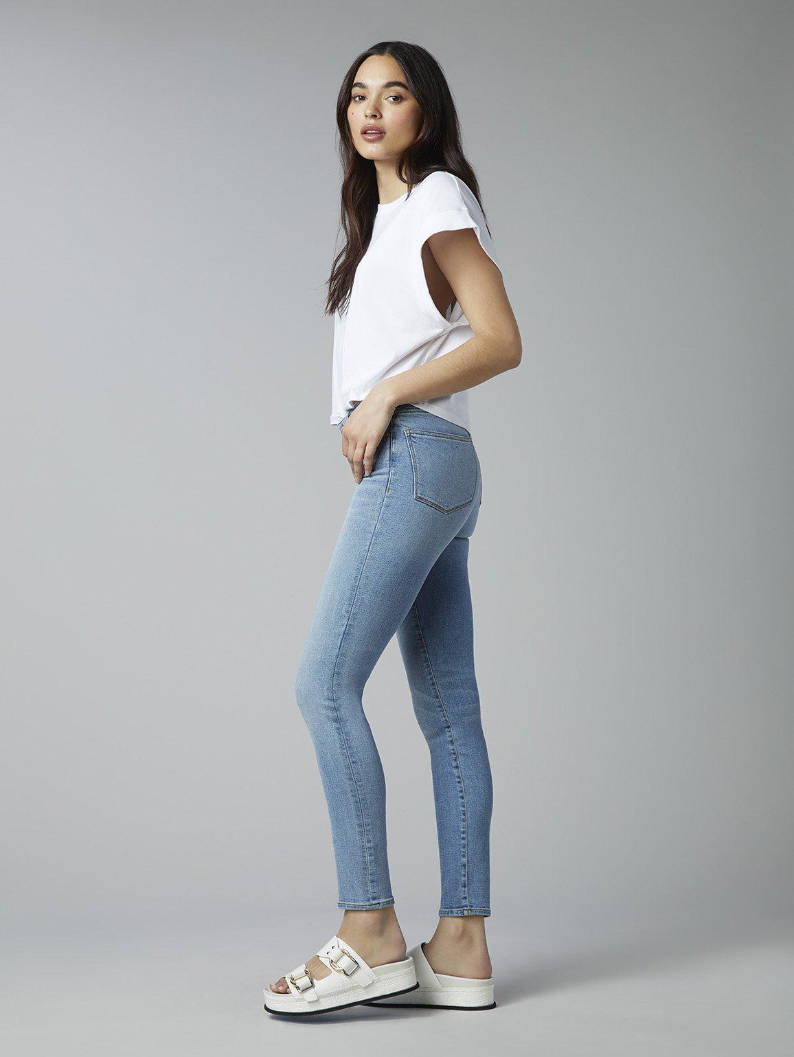 Florence Skinny Mid Rise Instasculpt Ankle   Cloud 1