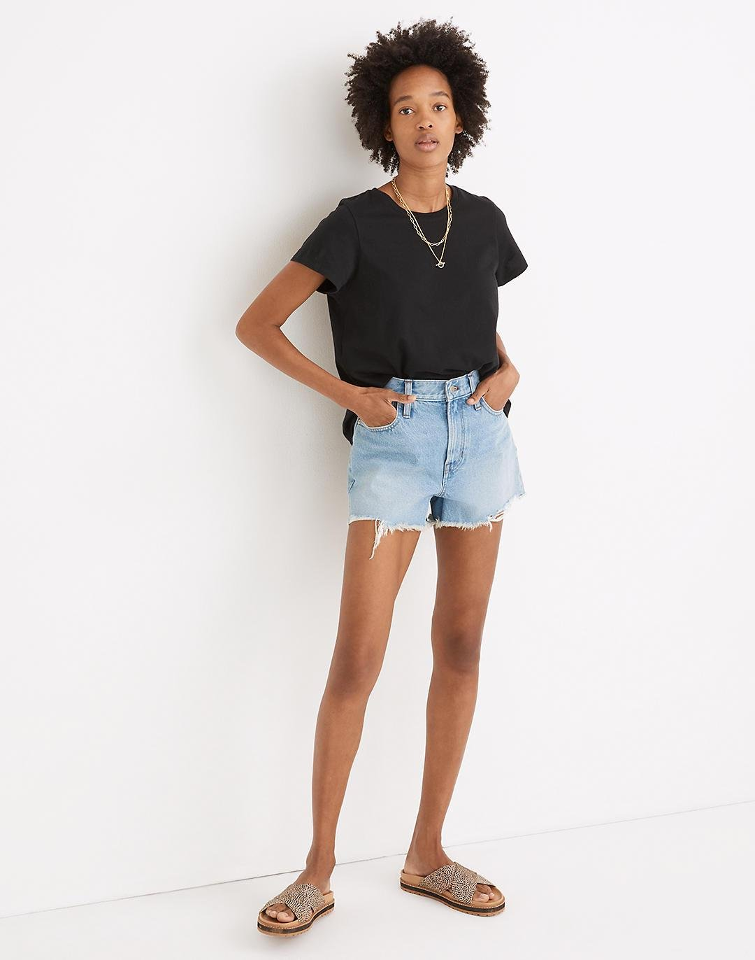 The Perfect Jean Short in Hedrick Wash 0