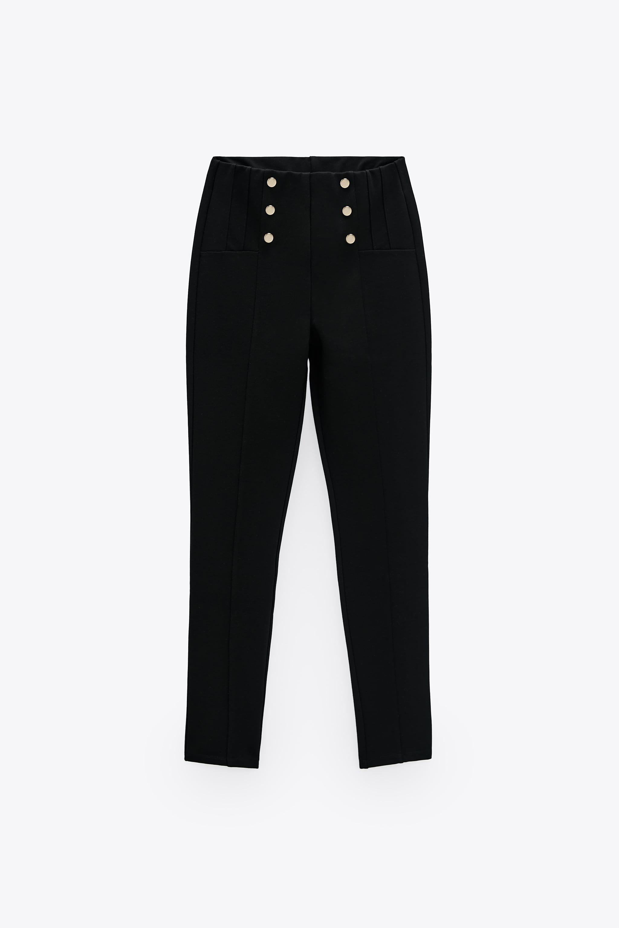 LEGGINGS WITH METALLIC BUTTONS 3