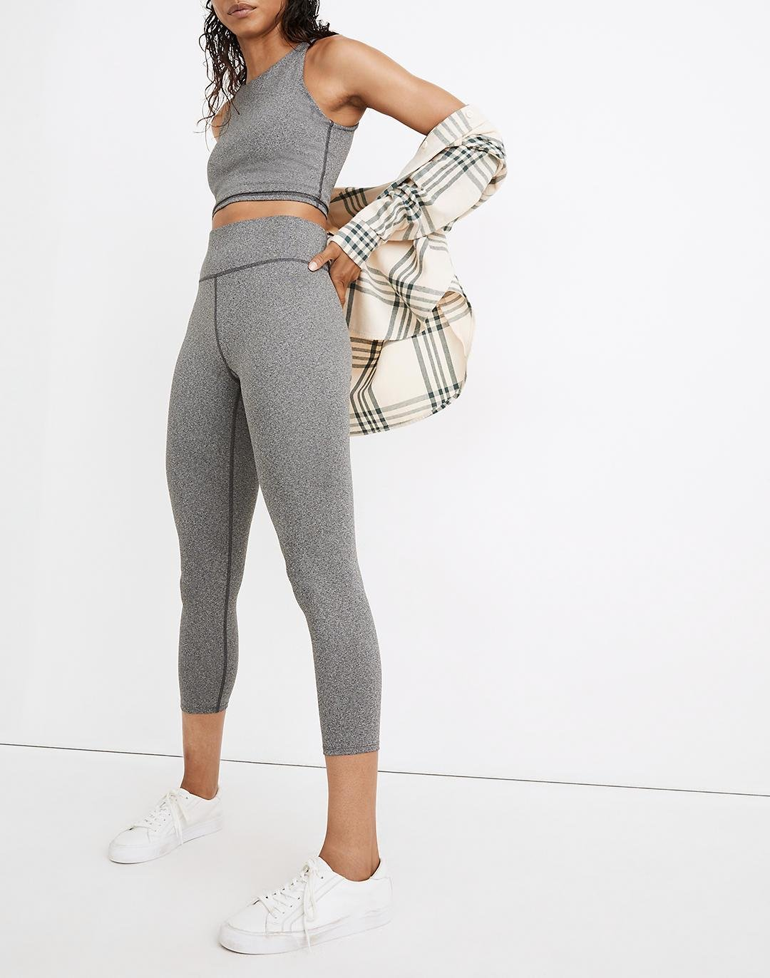 """MWL Form High-Rise 23"""" Leggings in Heathered Charcoal"""