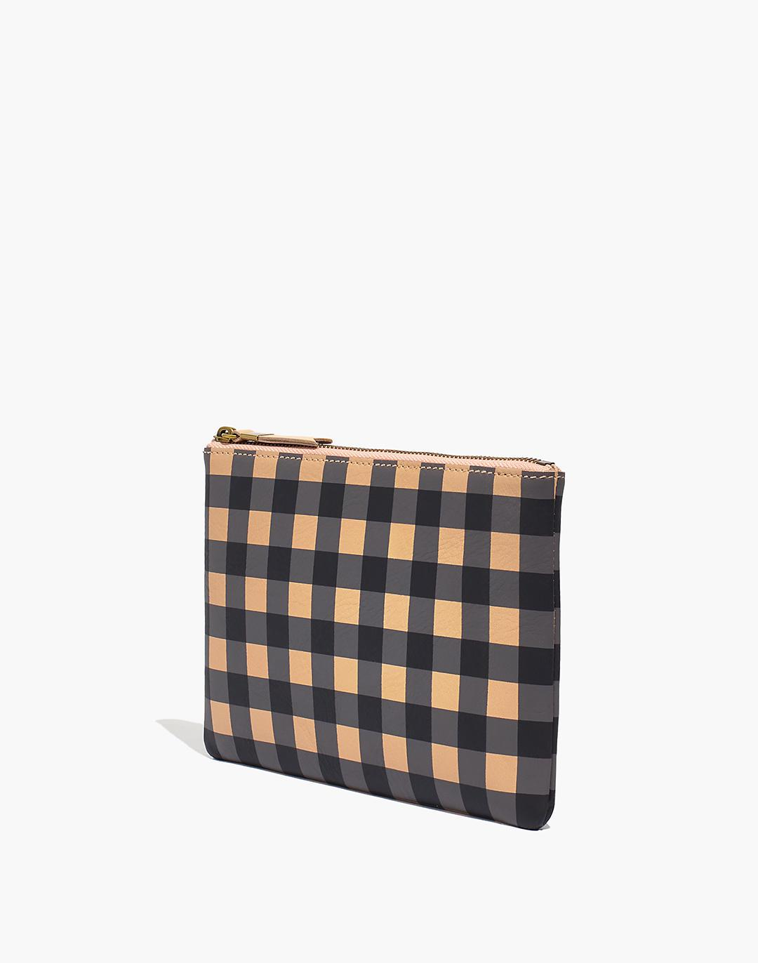 The Leather Pouch Clutch: Gingham Edition 2