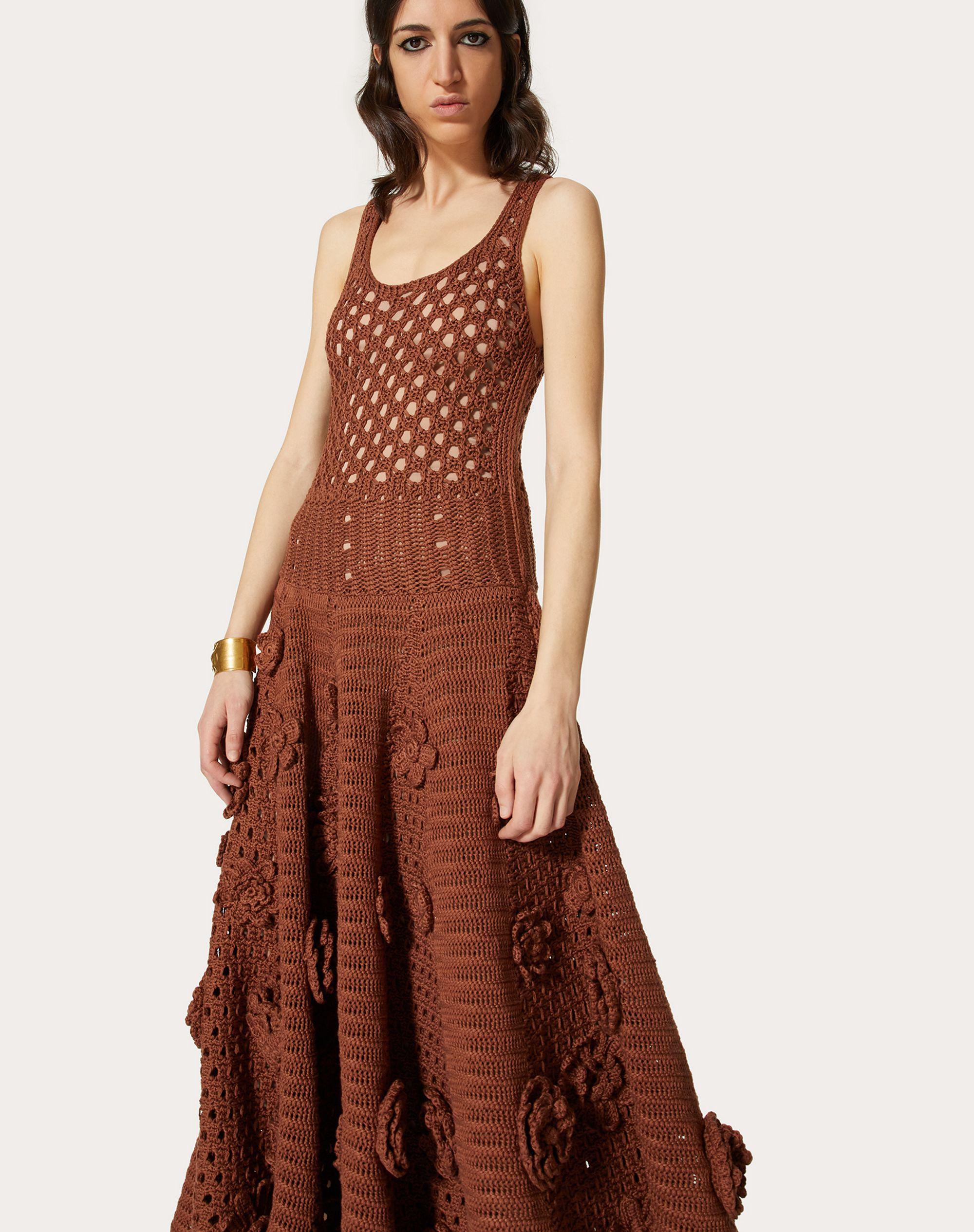 EMBROIDERED COTTON KNITTED DRESS 3