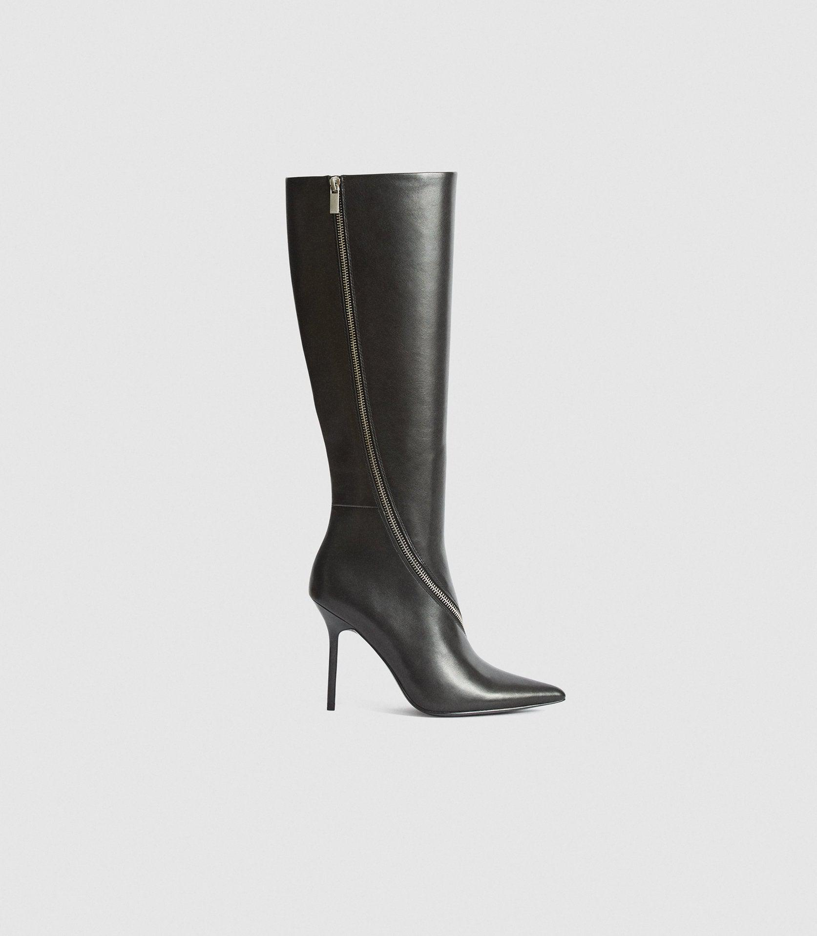 HOXTON KNEE HIGH - LEATHER KNEE HIGH BOOTS