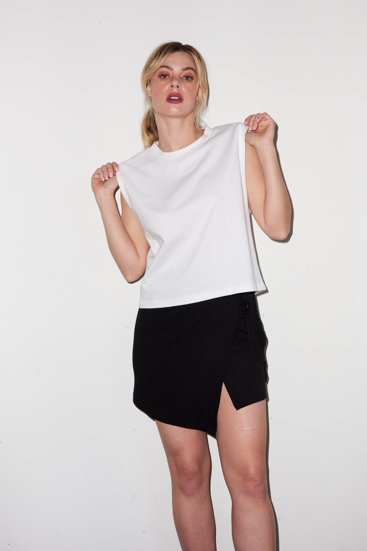 Strong Shoulder Tee - White 6