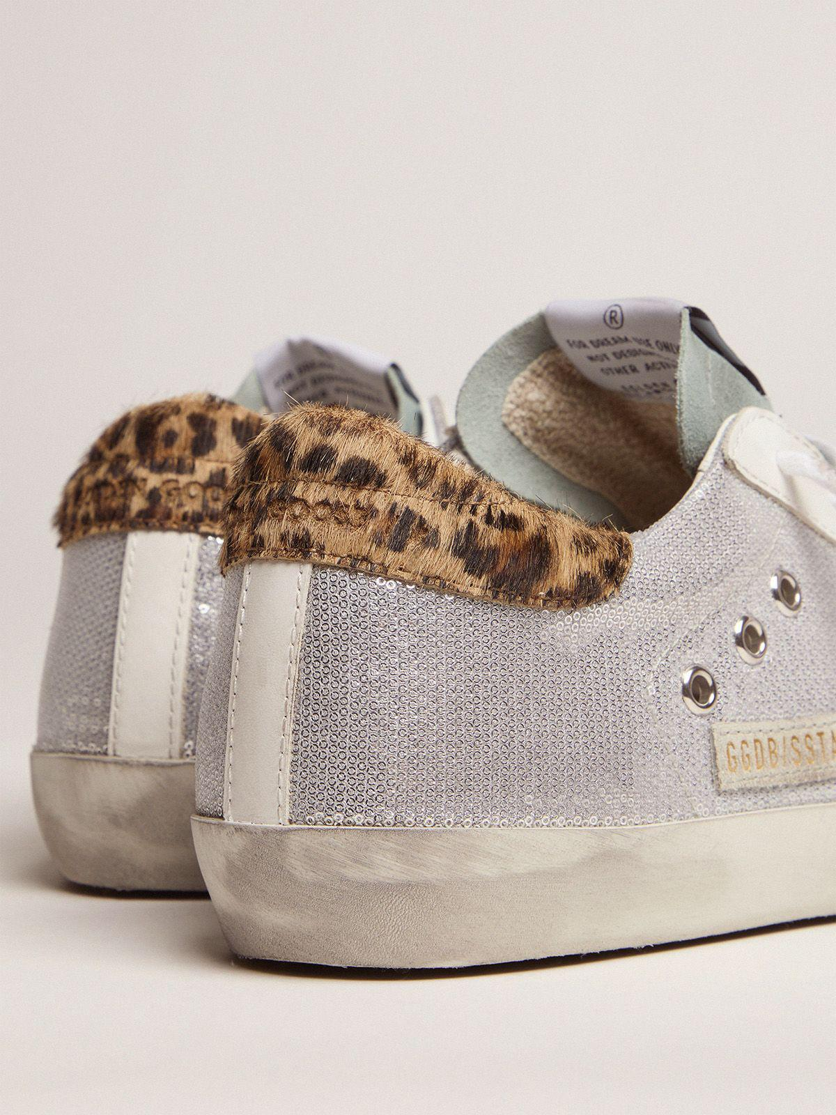Super-Star sneakers with sequins and leopard-print heel tab 3