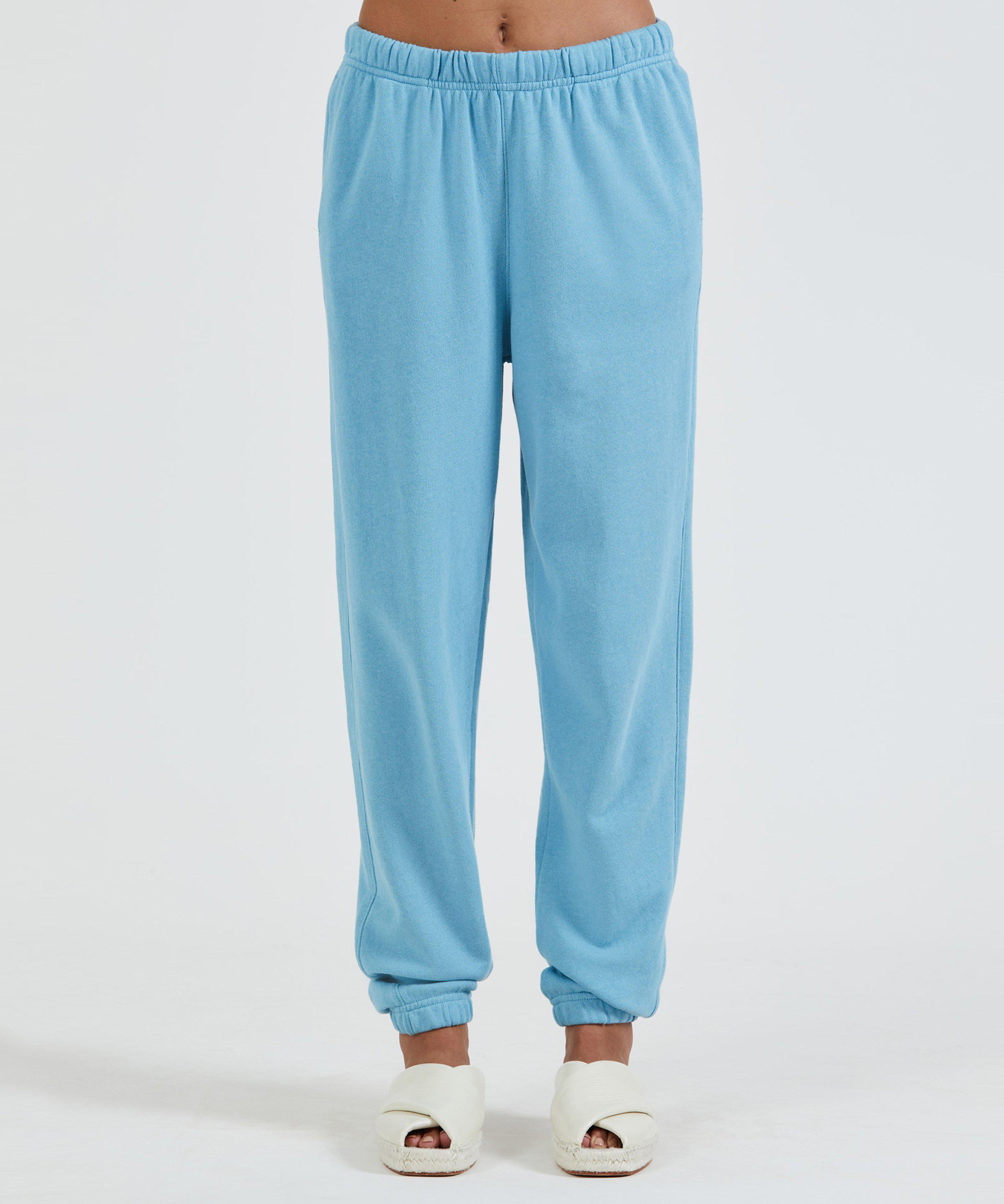 French Terry Pull-On Pant - Ocean Blue