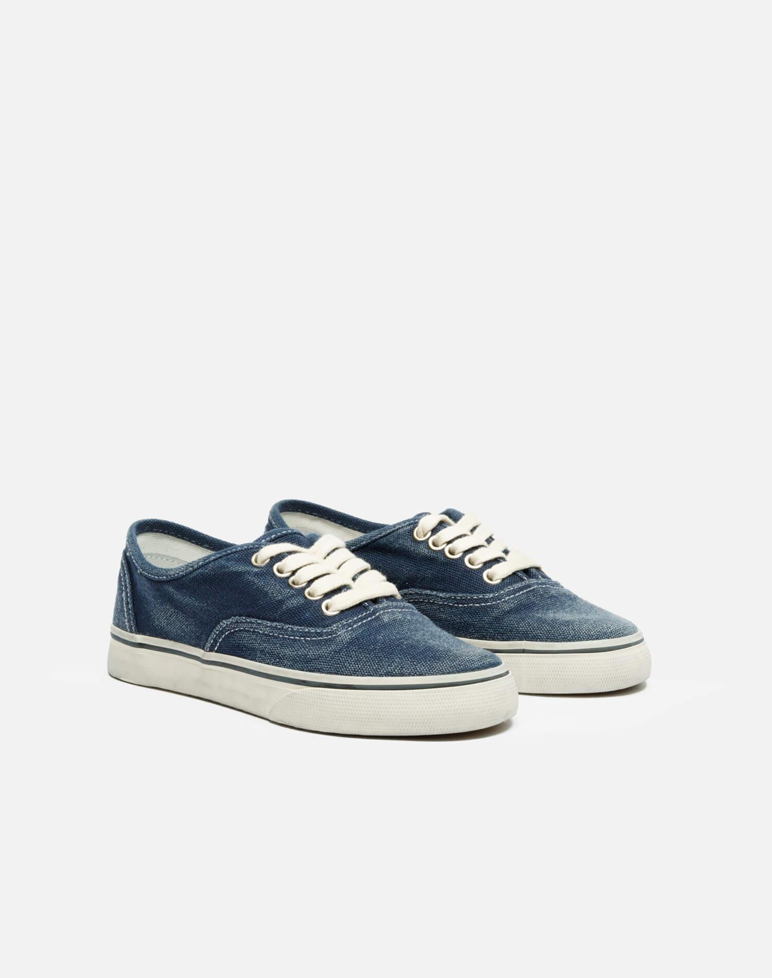 70s Low Top Skate - Faded Navy 1