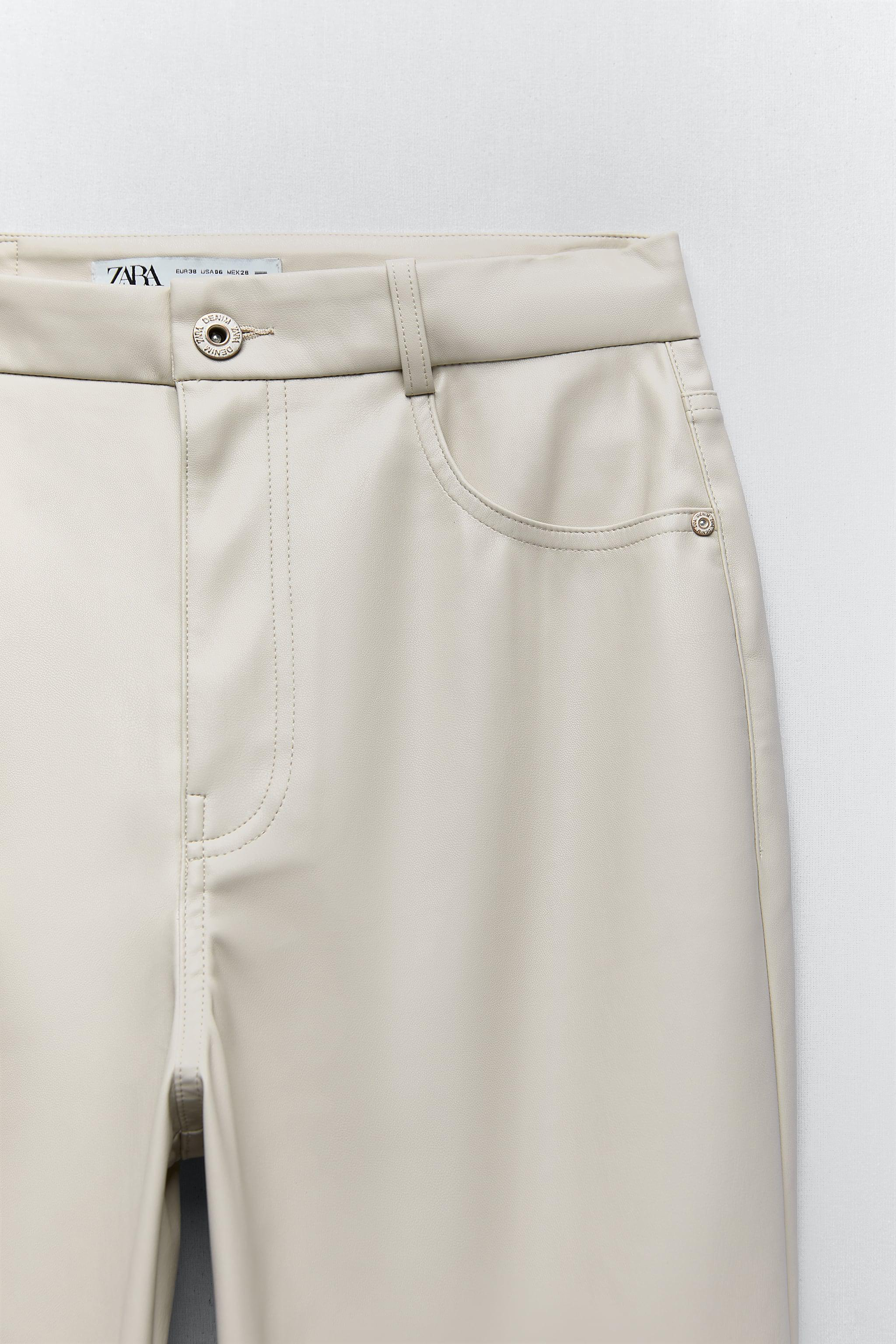 FAUX LEATHER MOM FIT PANTS 6