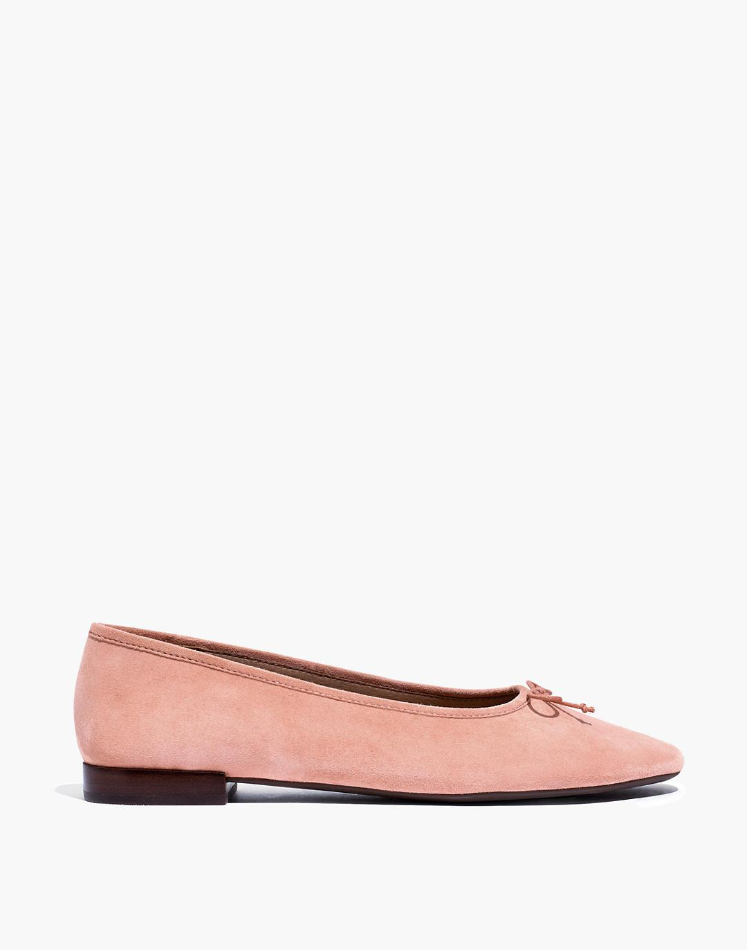 The Adelle Ballet Flat in Suede 1