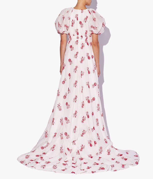Clarimond Gown Floral Embroidered Cotton Voile 1