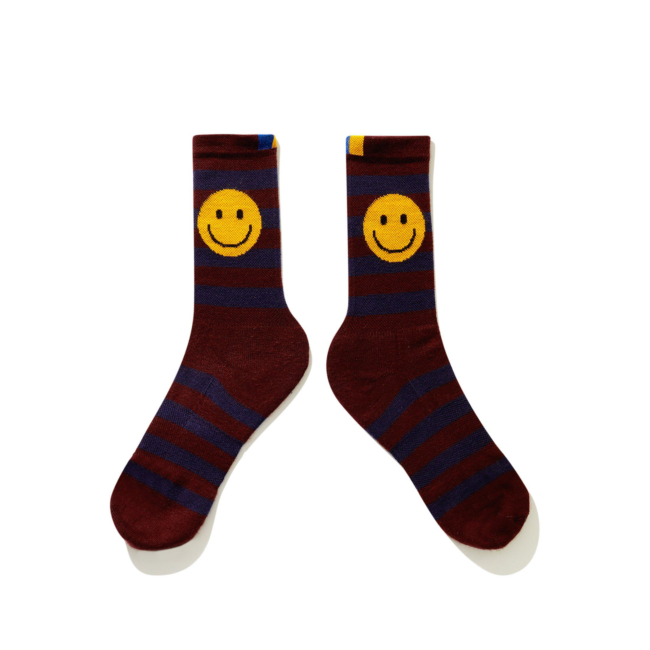 The Women's Rugby Smile Sock - Wine/Navy