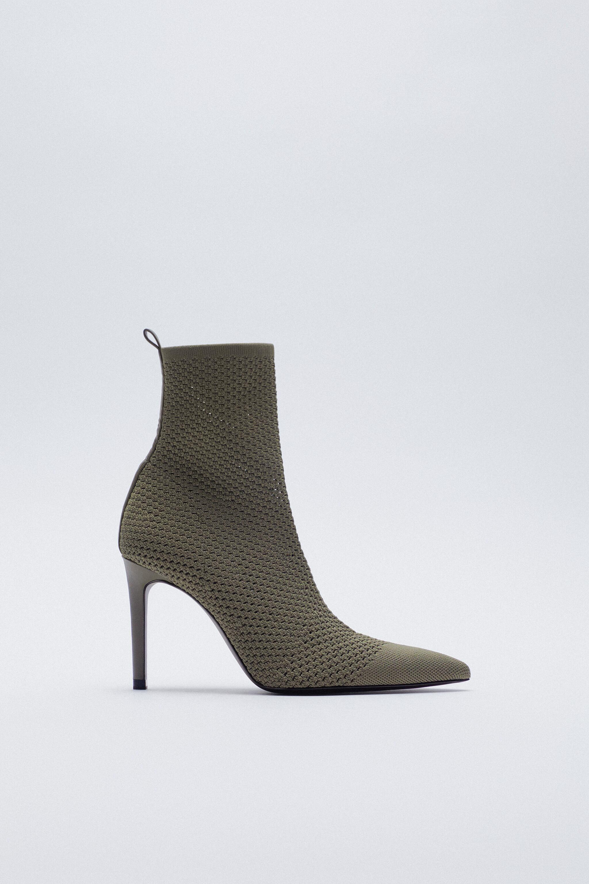 FABRIC HEELED ANKLE BOOTS
