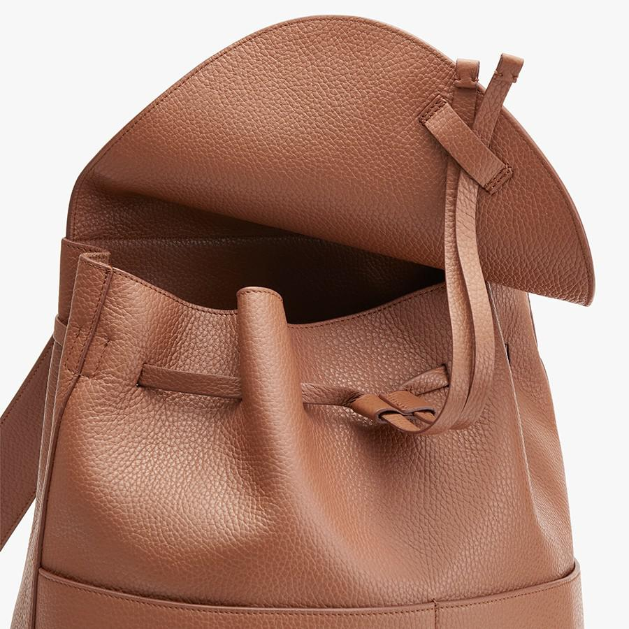 Women's Large Leather Backpack in Caramel | Pebbled Leather by Cuyana 1