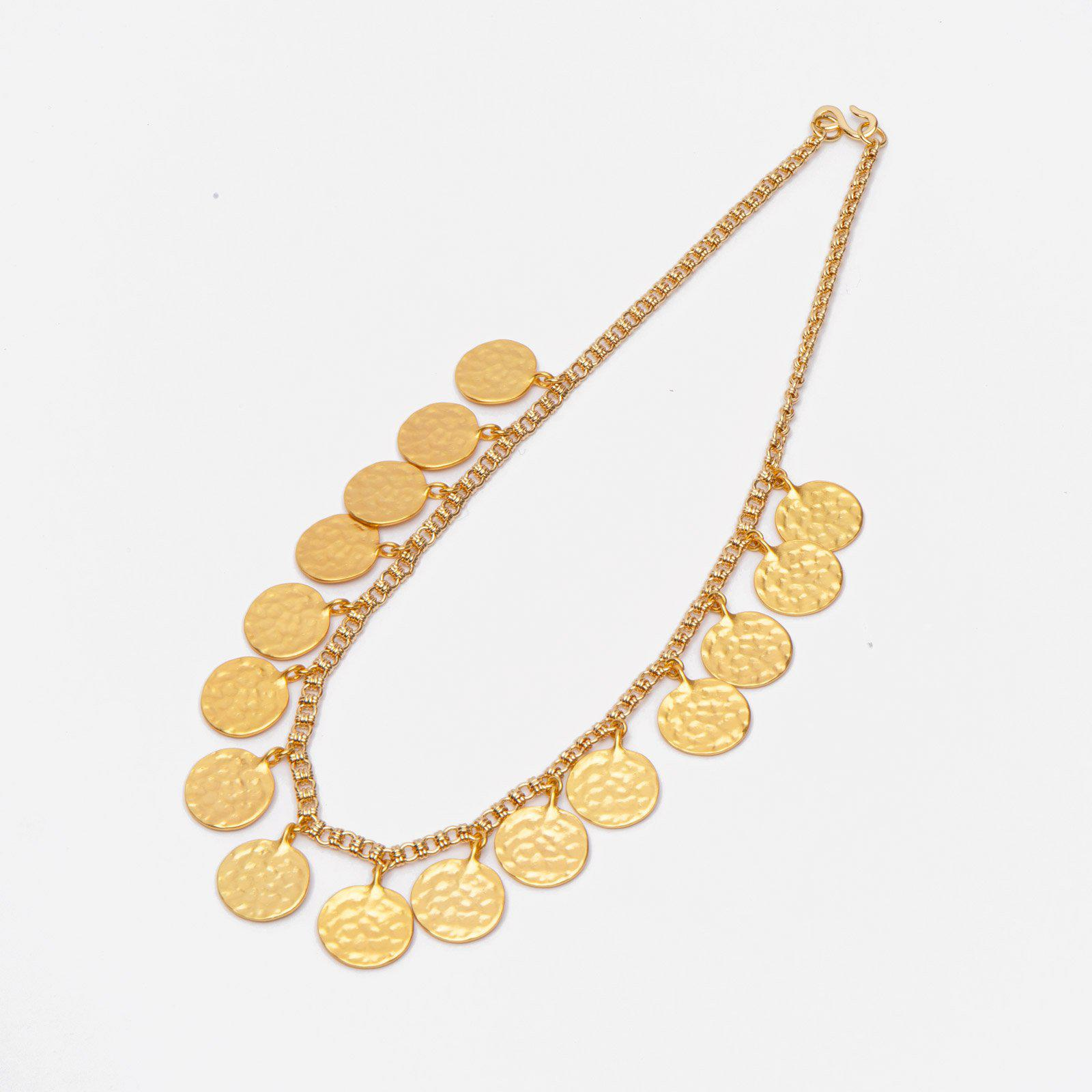 Gold Shilling Necklace
