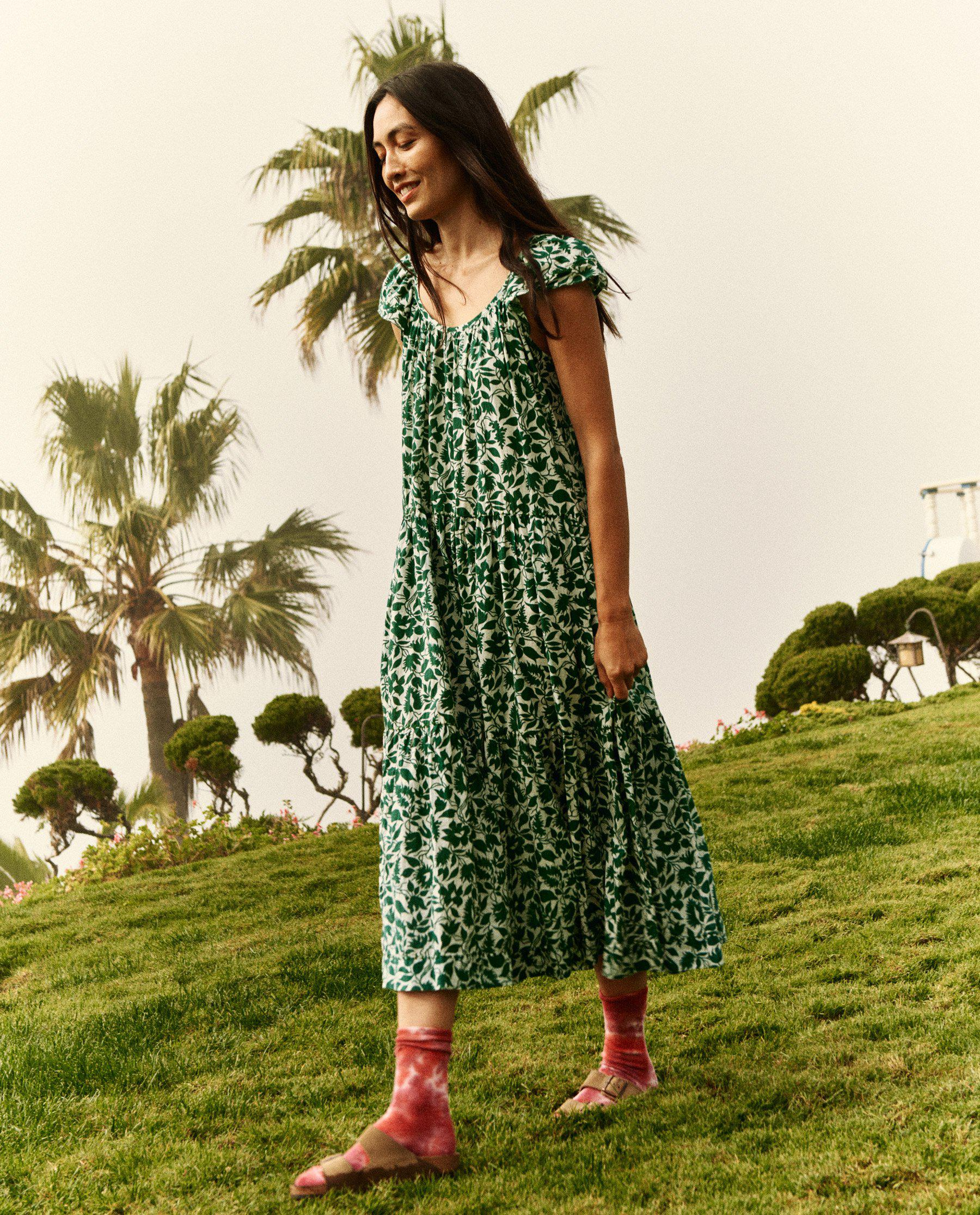 The Whip Stitched Plumeria Dress. -- Palm Leaf Blossom Floral