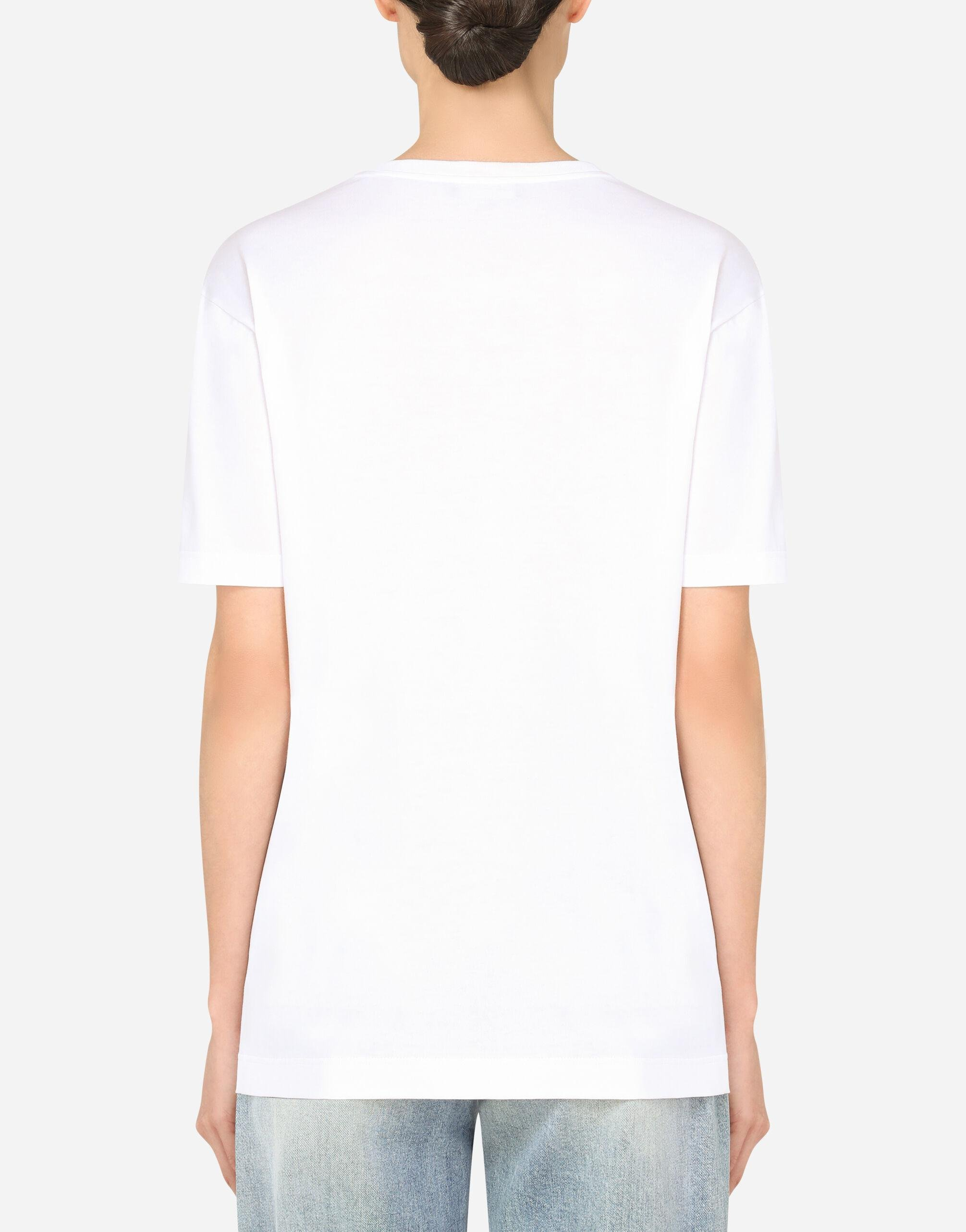 Oversize short-sleeved jersey T-shirt with Dolce & Gabbana lettering 1