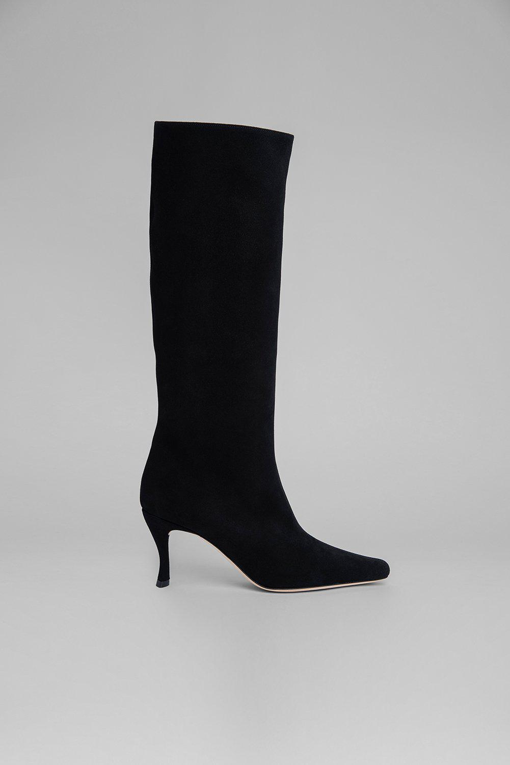 Stevie 42 Black Suede Leather