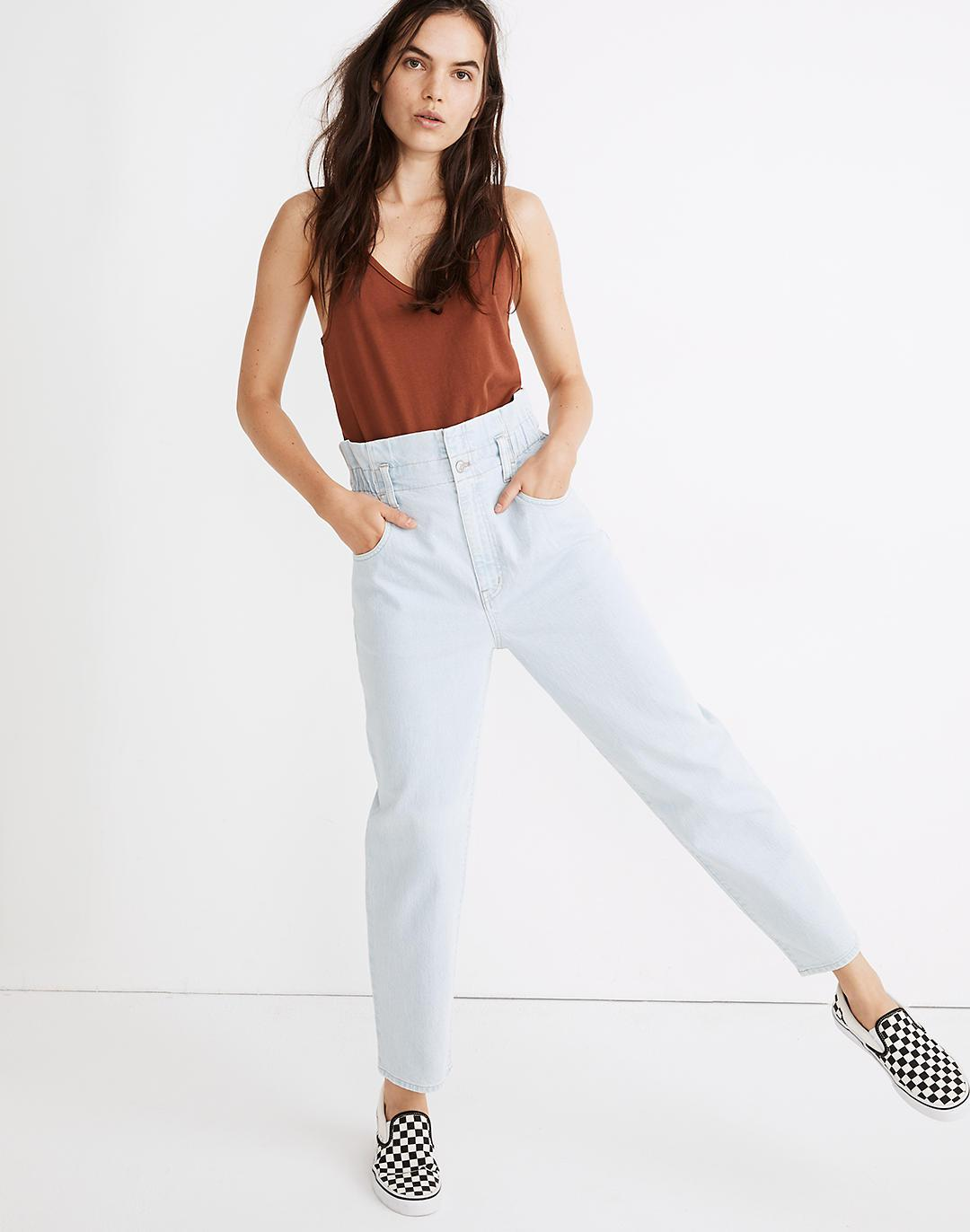Paperbag Classic Straight Jeans in Broomfield Wash