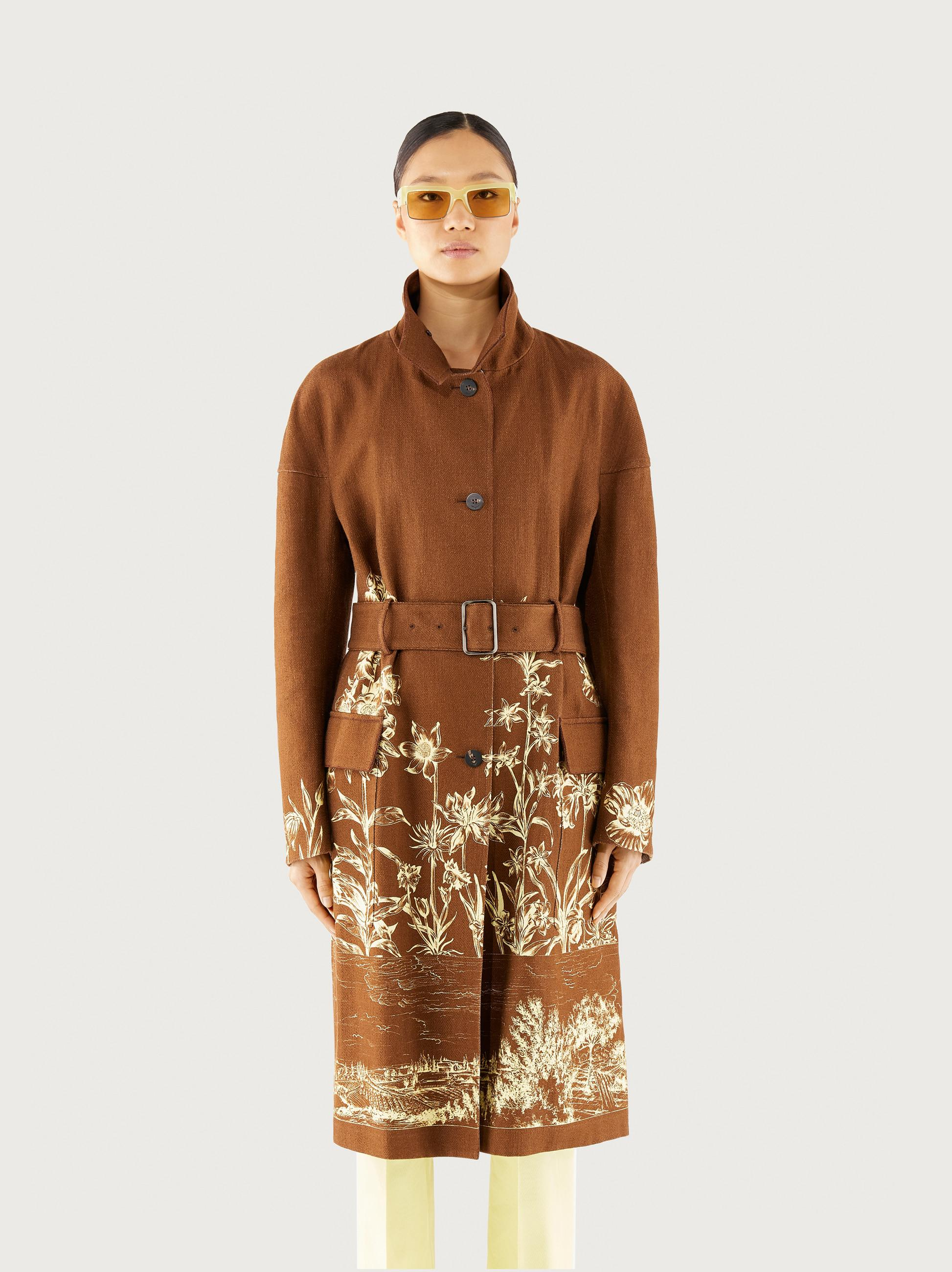 PRINTED COTTON TRENCH 0