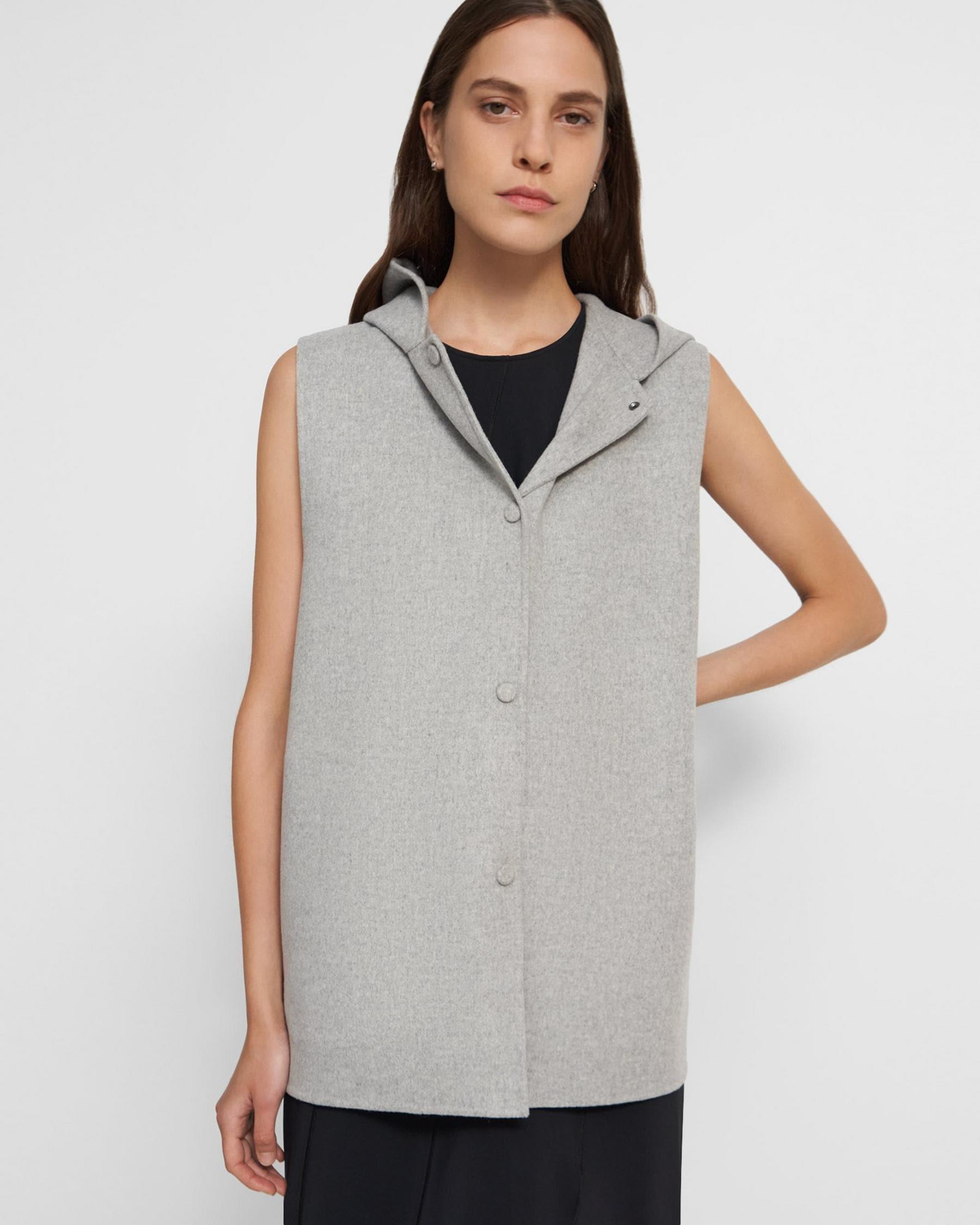 Clairene Vest in Double-Face Wool-Cashmere