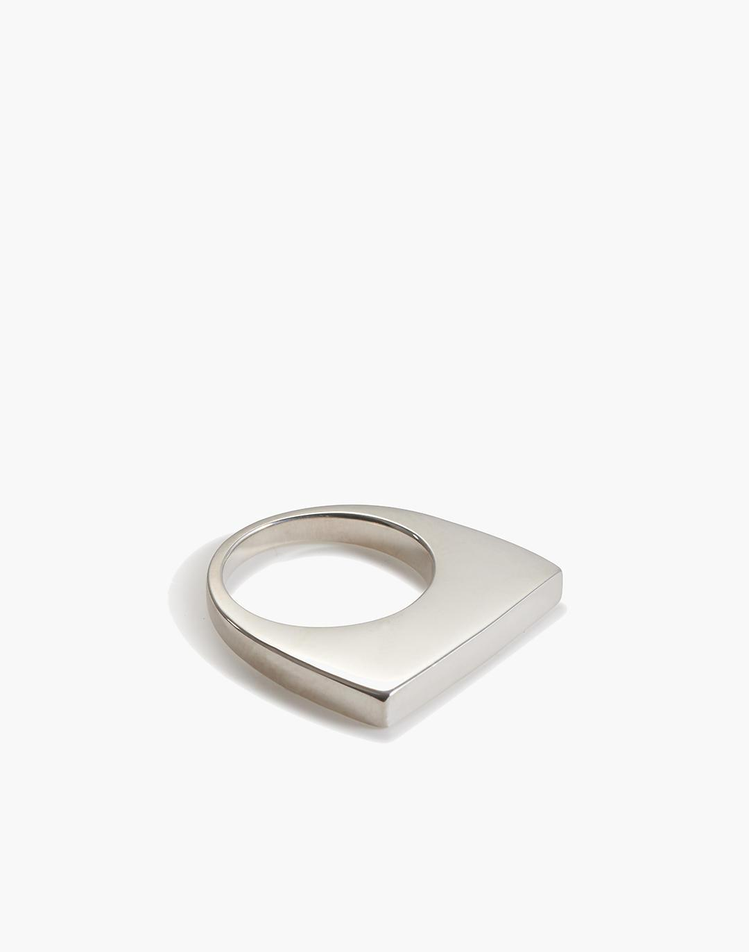 Charlotte Cauwe Studio Flat Square Ring in Sterling Silver