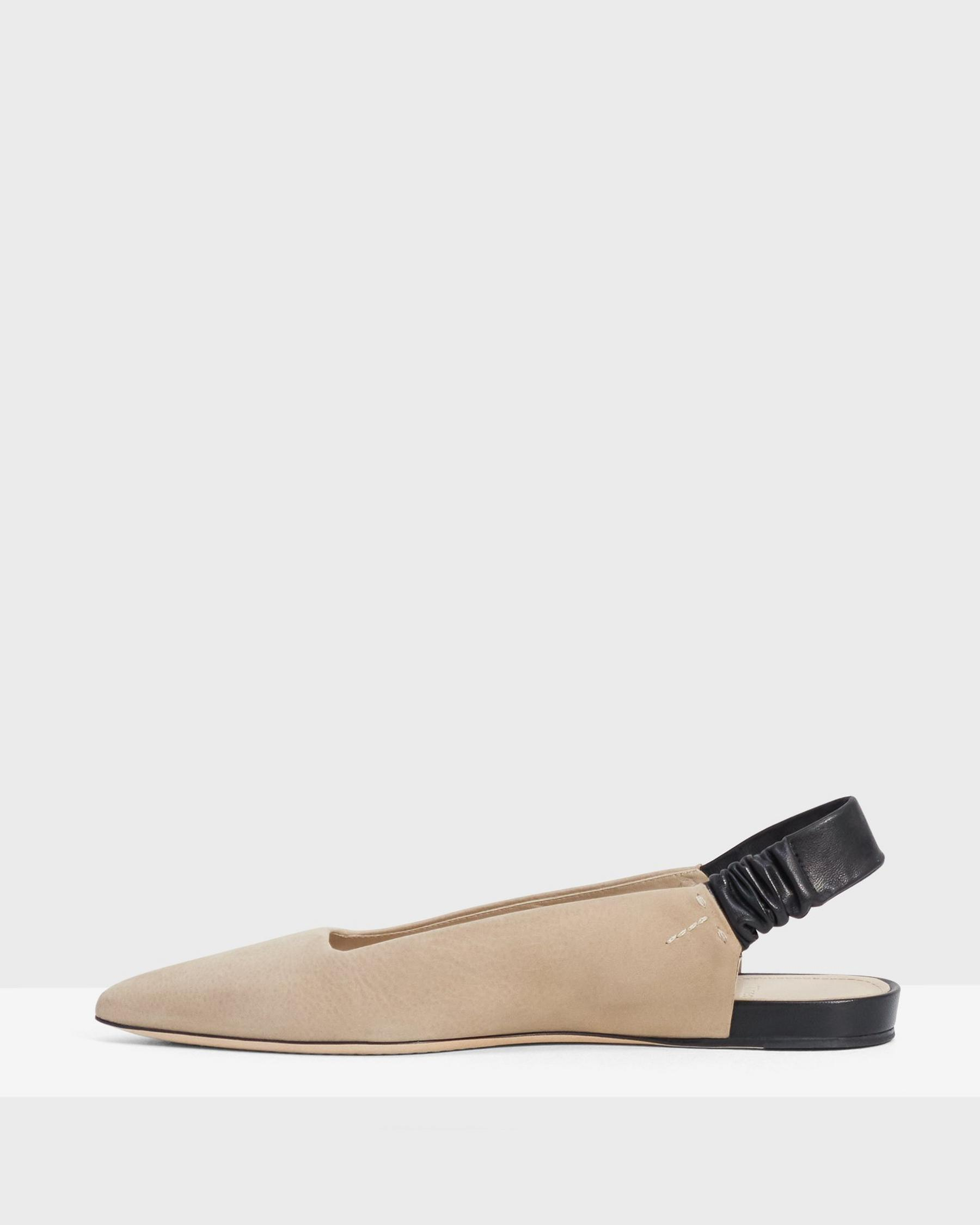 Wedge Flat in Leather