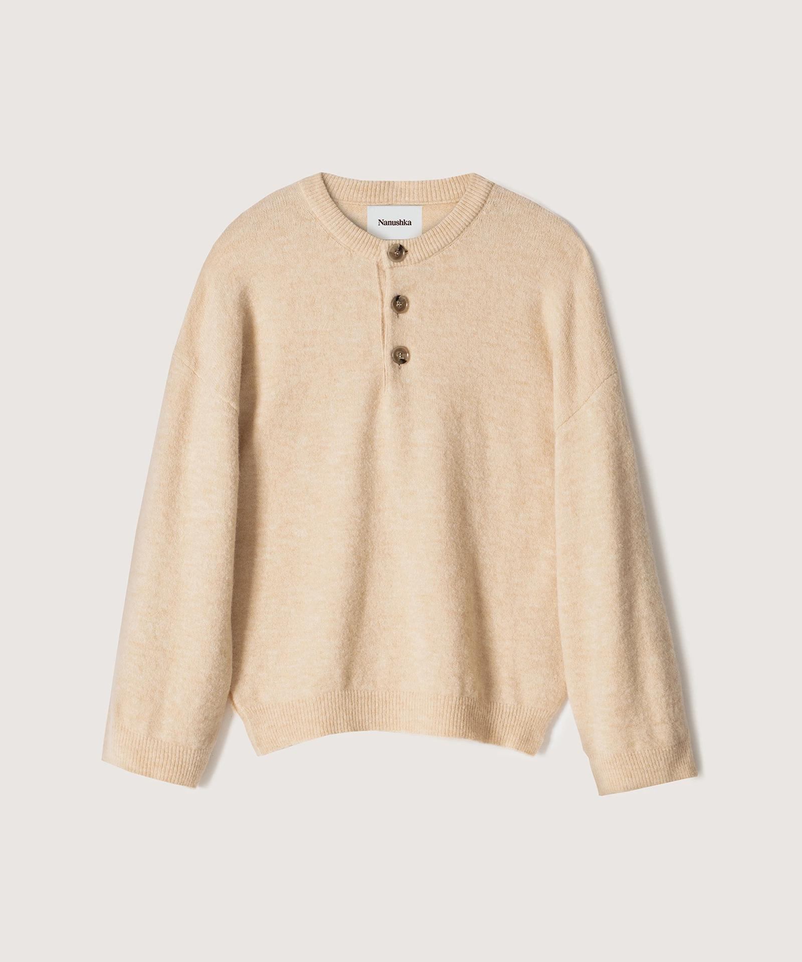 LAMEE - Fluffy-knit sweater - Creme