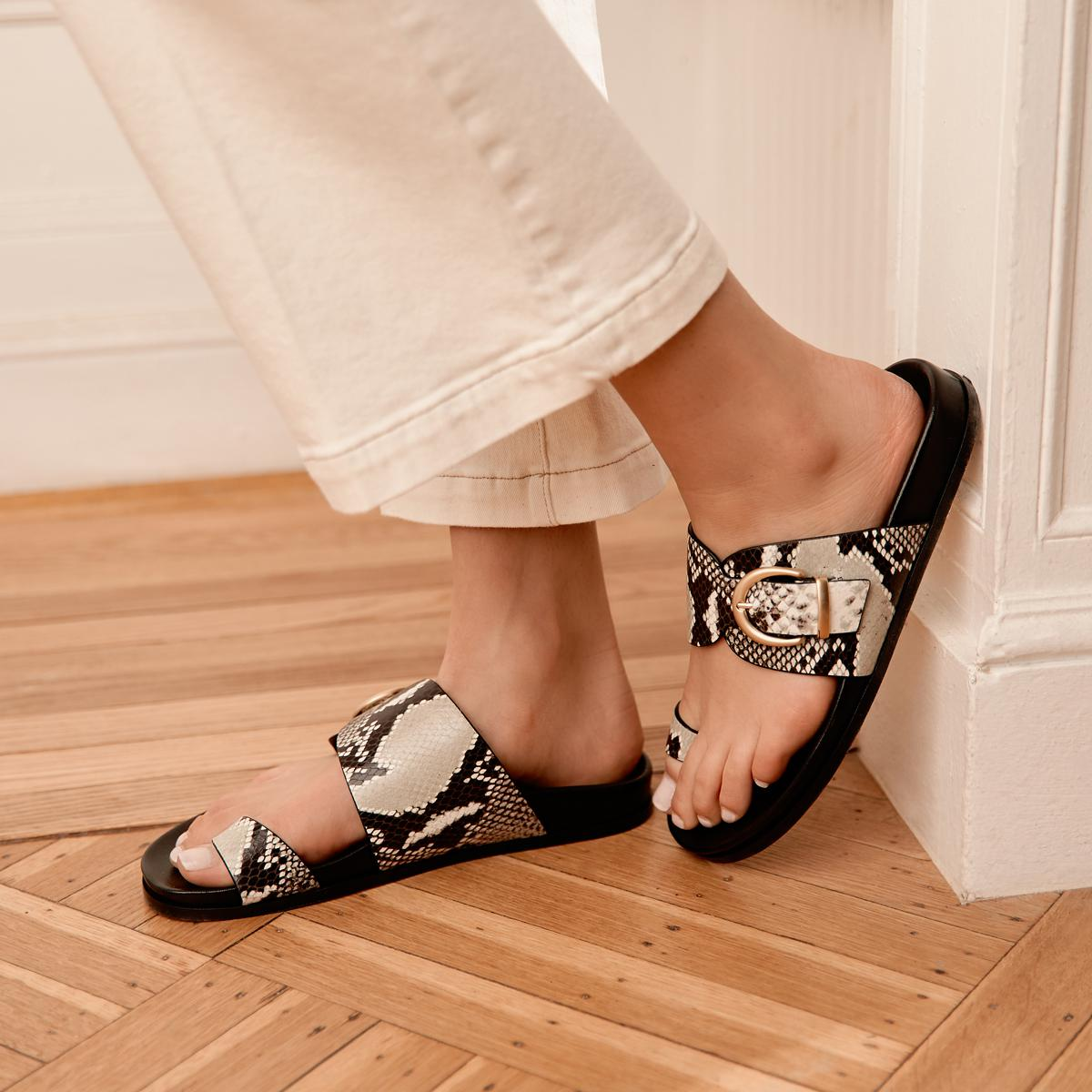 Cyrus | Leather Slide Sandal with Contoured Footbed 3