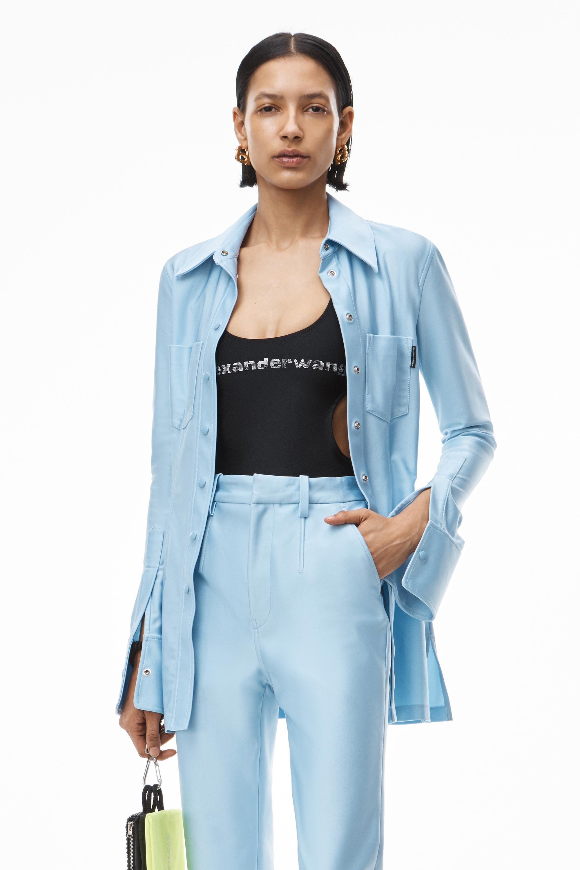 tailored shirt in active stretch