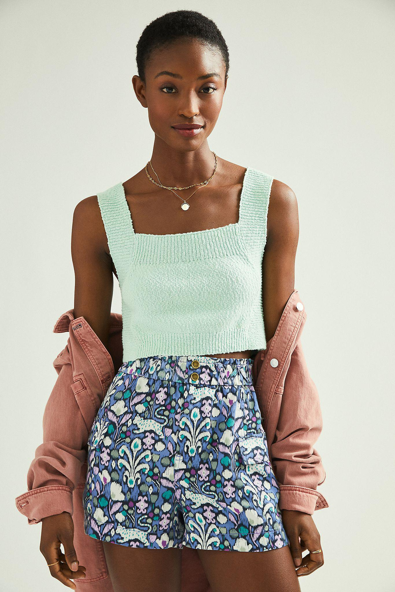 Maeve Libby Cropped Sweater Tank