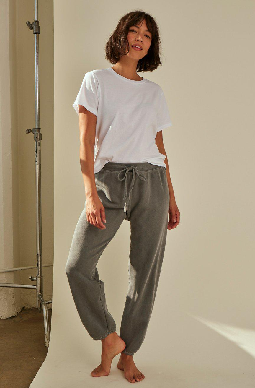 CROPPED SWEATPANT FADED BLACK